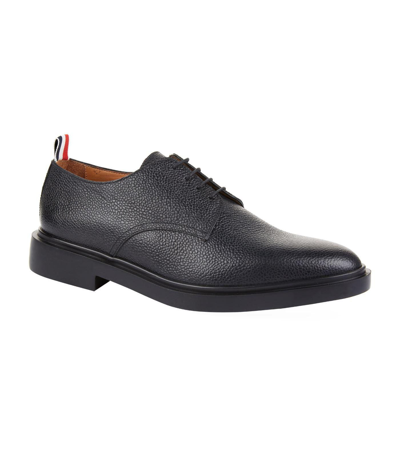 Thom Browne Chaussures Derby Pebbled En Cuir De Grain WQNBNr