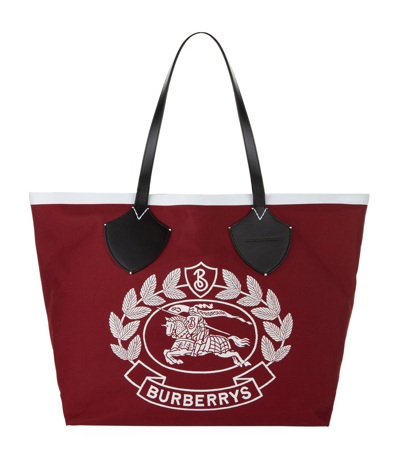 55d480ad70f6 Burberry Archive Logo Tote Bag in Red - Lyst