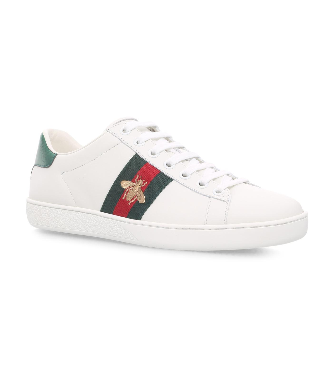 beffd21f8f5 Gucci - White New Ace Bee Low Sneakers - Lyst. View fullscreen