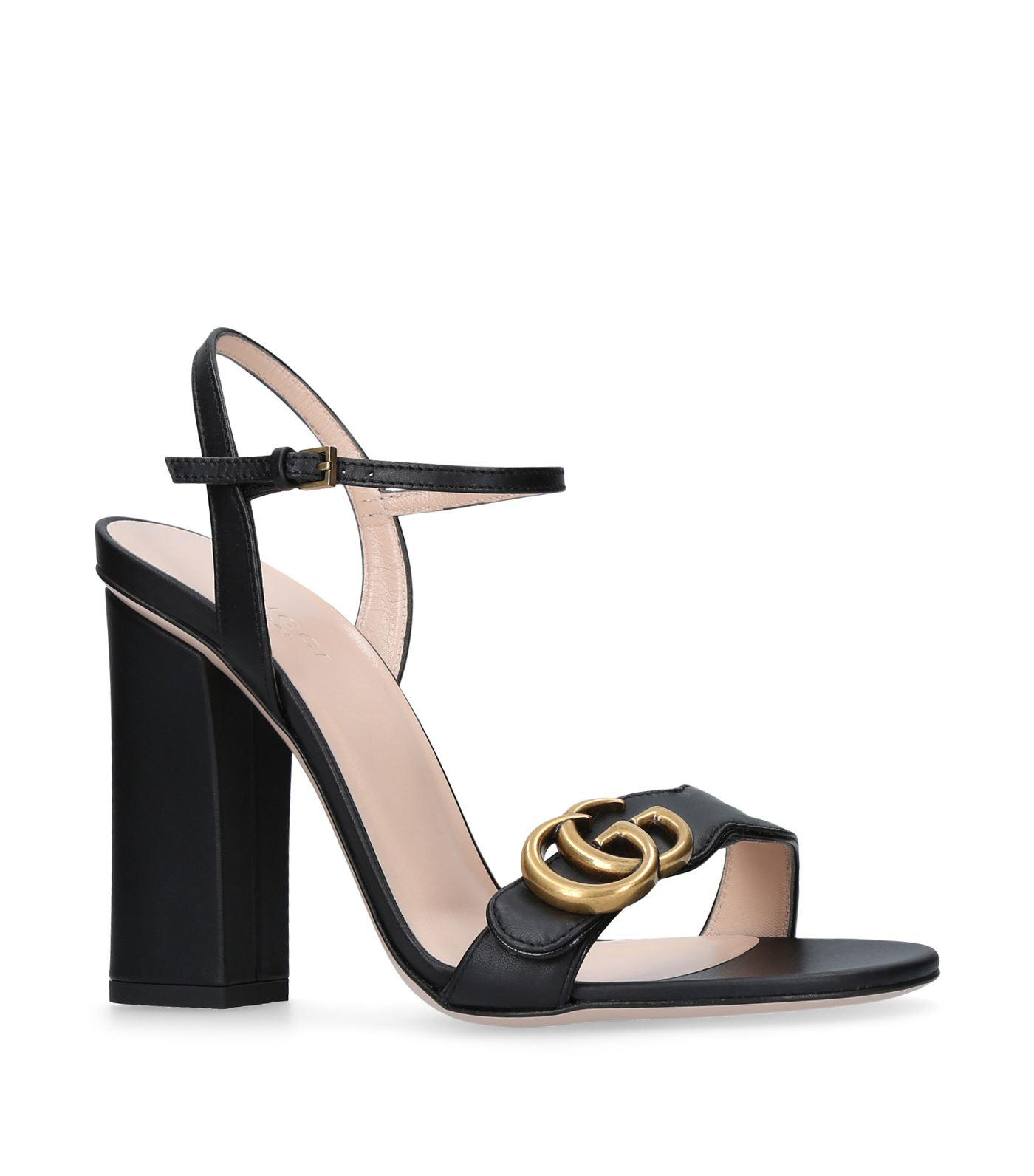 99f7a3cf9 Gucci Marmont Sandals 105 in Black - Lyst
