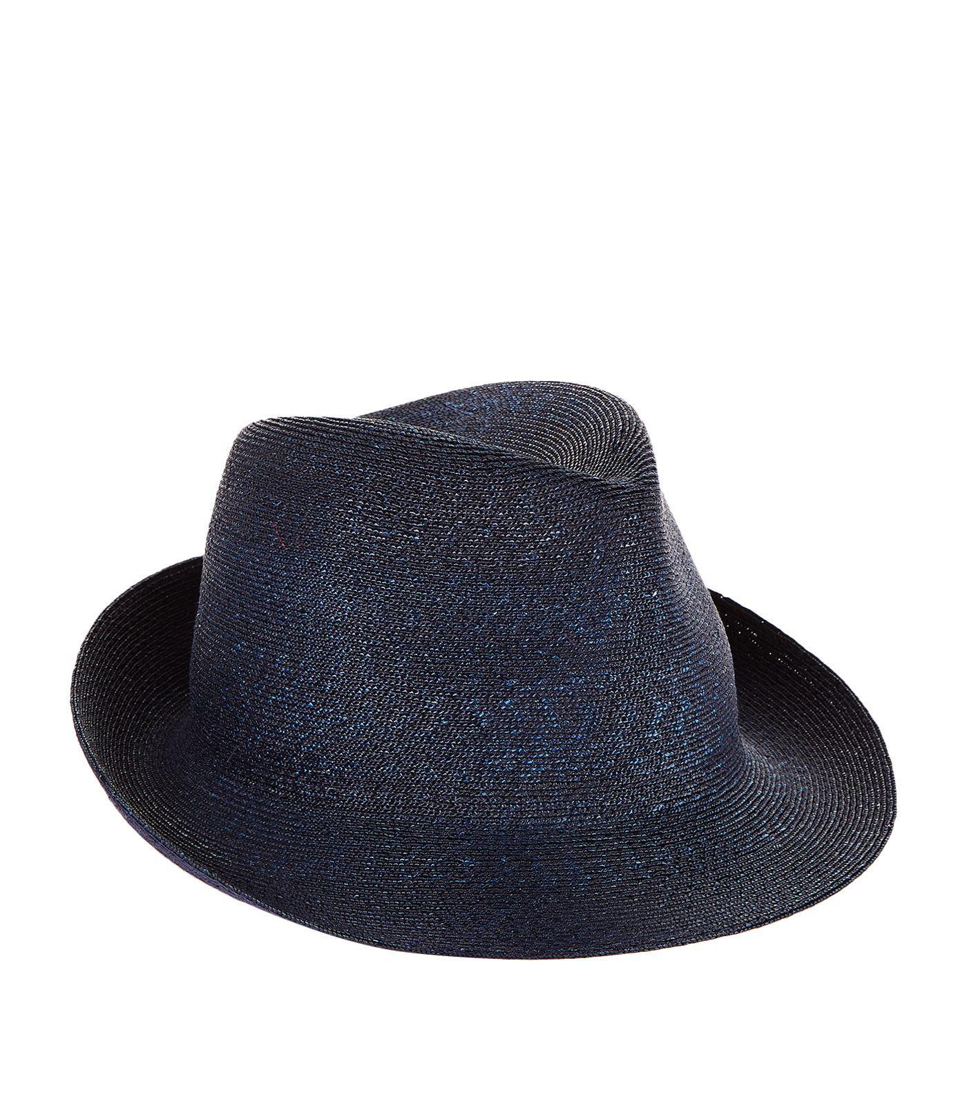 Philip Treacy Logo Pin Trilby Hat in Blue for Men - Lyst f6b767f38c71