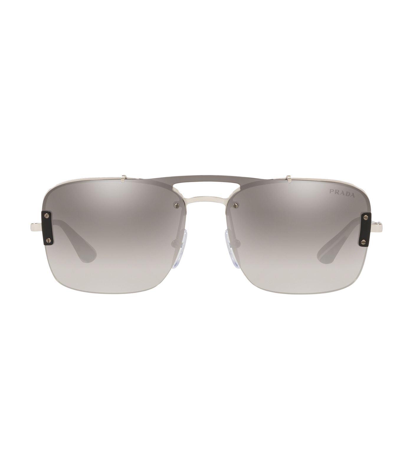 8e063fc0dbc5 Prada - Metallic Pillow Sunglasses for Men - Lyst. View fullscreen
