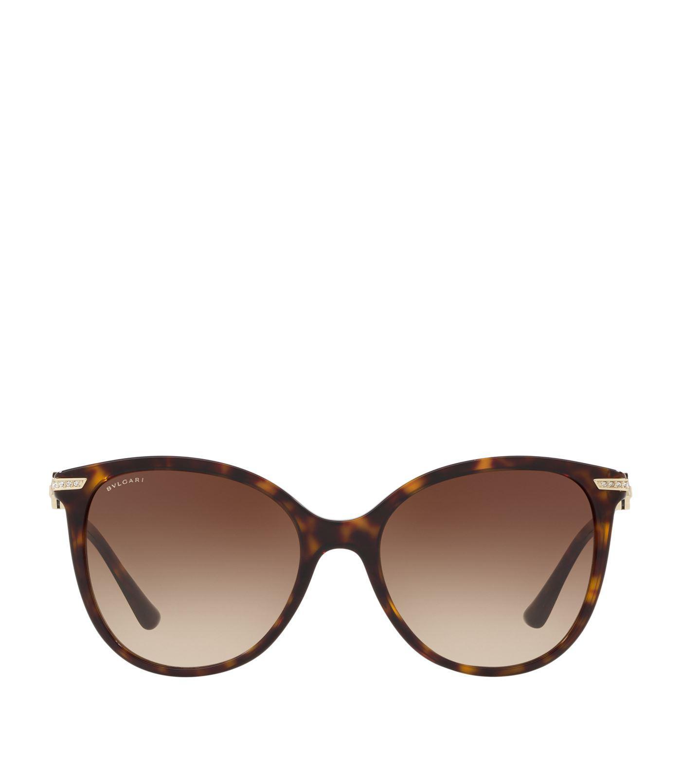 d78954d357e51 BVLGARI - Brown Serpenti Butterfly Sunglasses - Lyst. View fullscreen