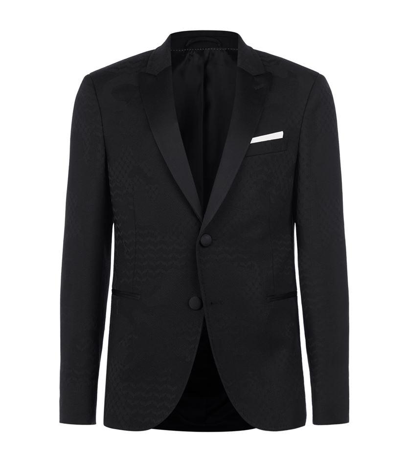 Neil barrett jacquard tuxedo jacket in black for men lyst for Neil barrett tuxedo shirt