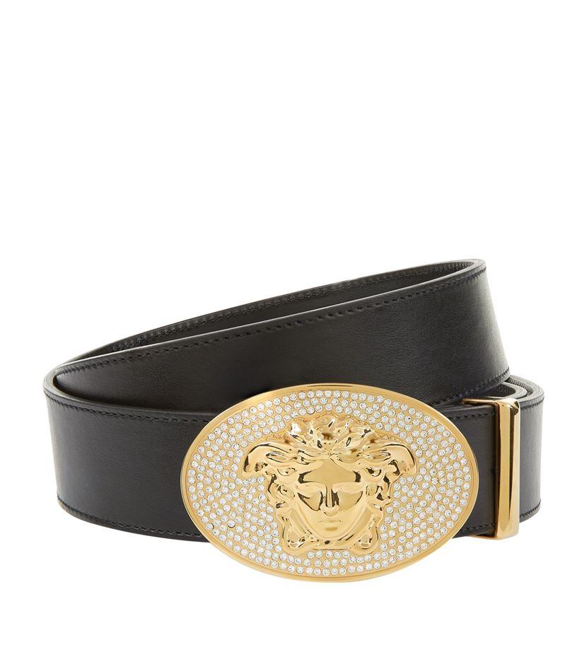 Versace Embellished Medusa Belt Lyst