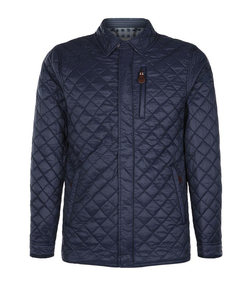 la martina quilted jacket in blue for men lyst. Black Bedroom Furniture Sets. Home Design Ideas