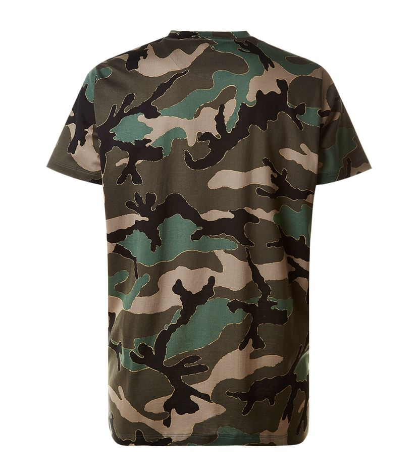 Valentino camouflage printed cotton jersey t shirt in for Camouflage t shirt printing