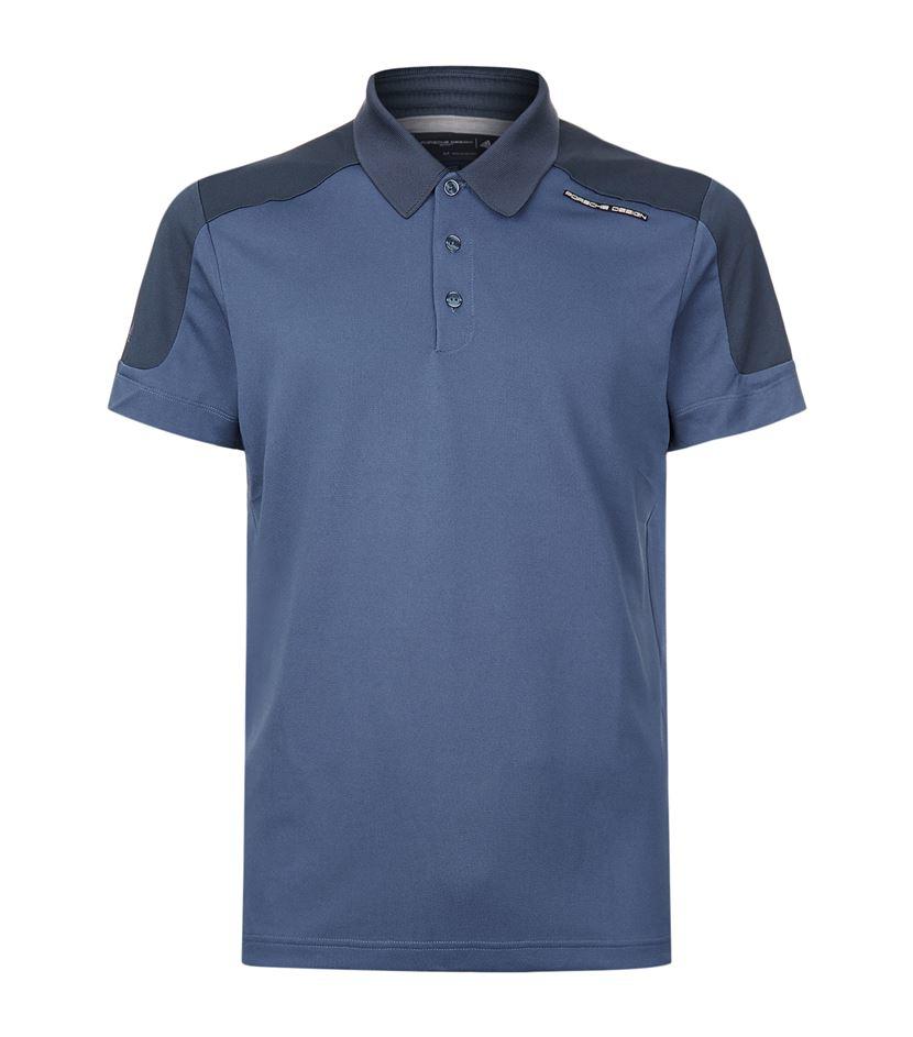 lyst porsche design colourblock polo shirt in blue for men. Black Bedroom Furniture Sets. Home Design Ideas