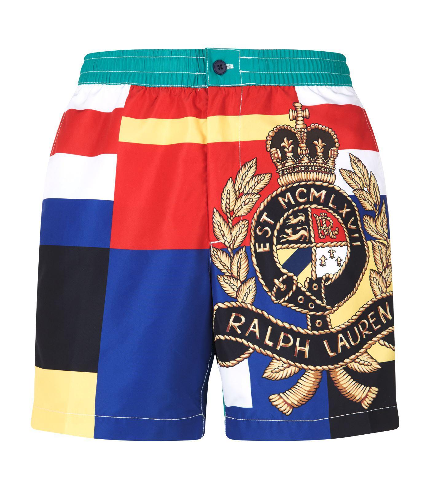 5999d6337d4 ... ebay polo ralph lauren. mens blue classic crest swim shorts 25d8b e9415