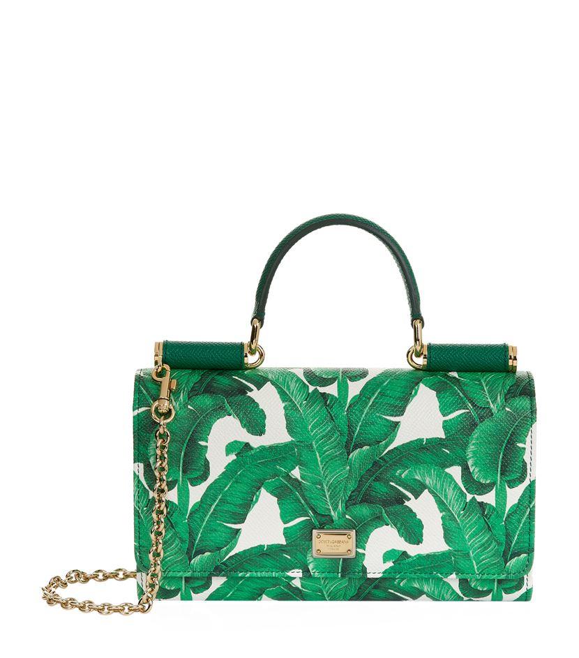 Dolce Amp Gabbana Mini Von Wallet Crossbody Bag In Green