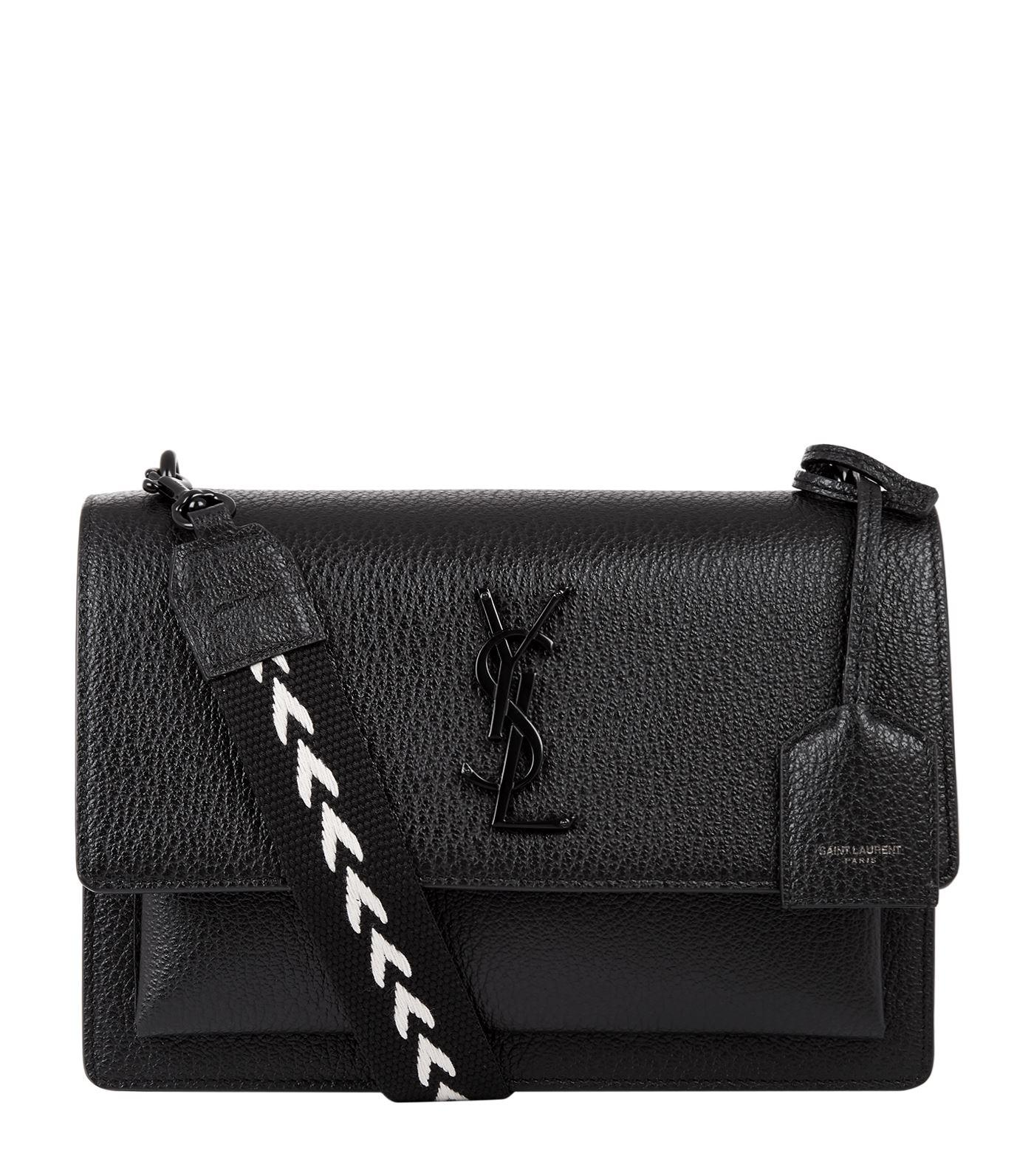 e318fda052 Lyst - Saint Laurent Medium Guitar Strap Sunset Shoulder Bag in Black