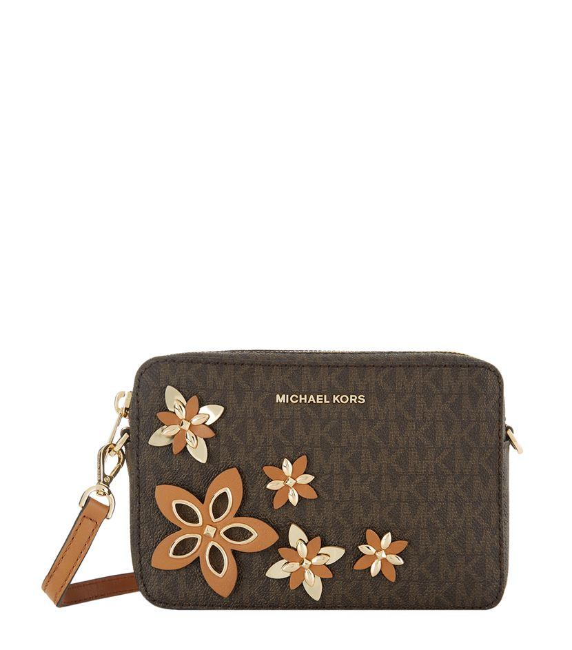 Michael Michael Kors Embellished Cross Body Camera Bag In Multicolor | Lyst