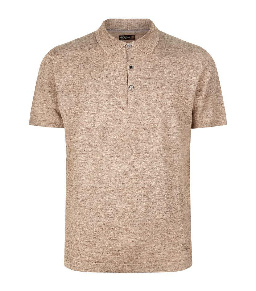 Corneliani Linen Silk Polo Shirt For Men Lyst