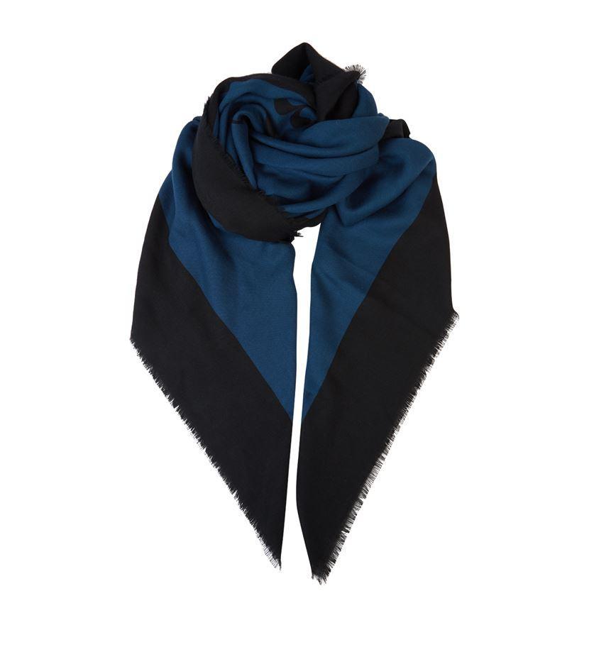 burberry classic logo scarf in blue lyst
