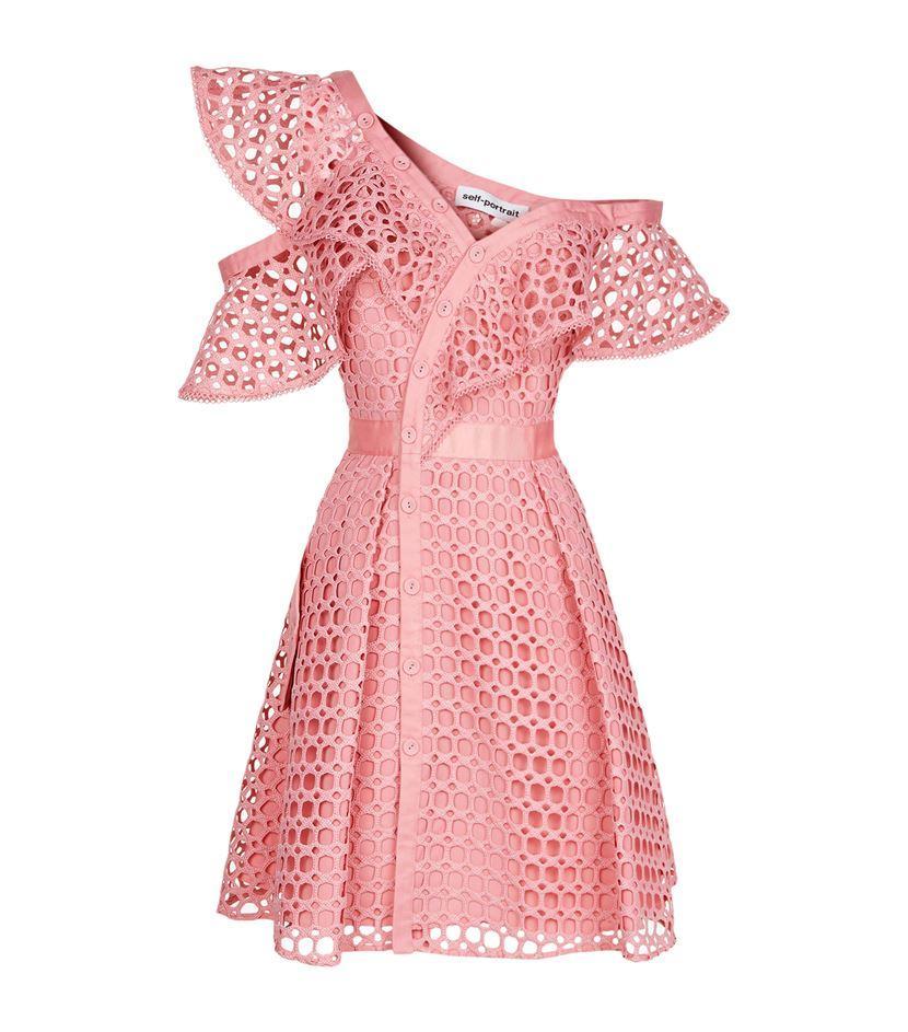 Self portrait Lace Frill Mini Dress In Pink Lyst