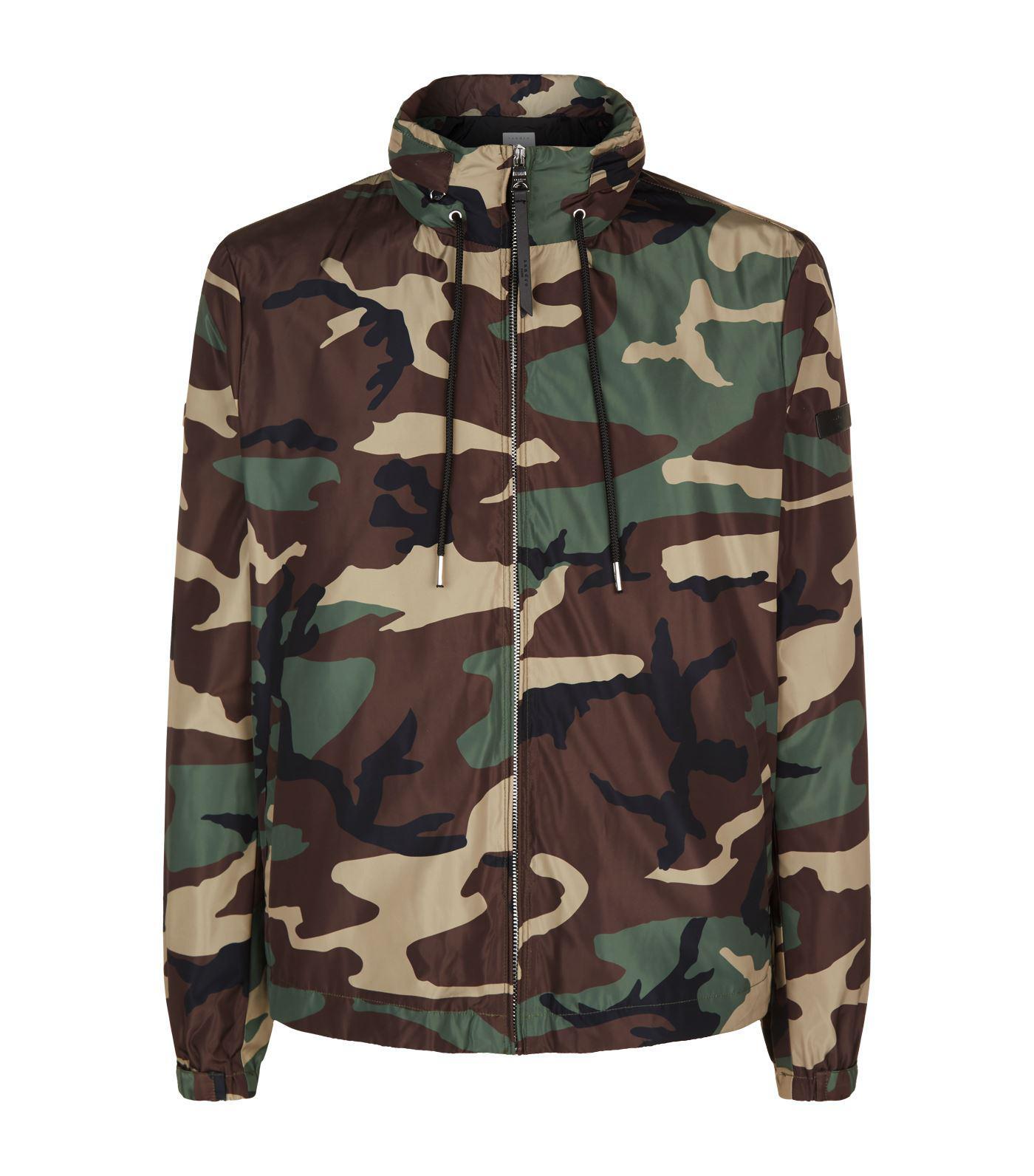 c081e8da Sandro Camouflage Print Jacket in Green for Men - Lyst