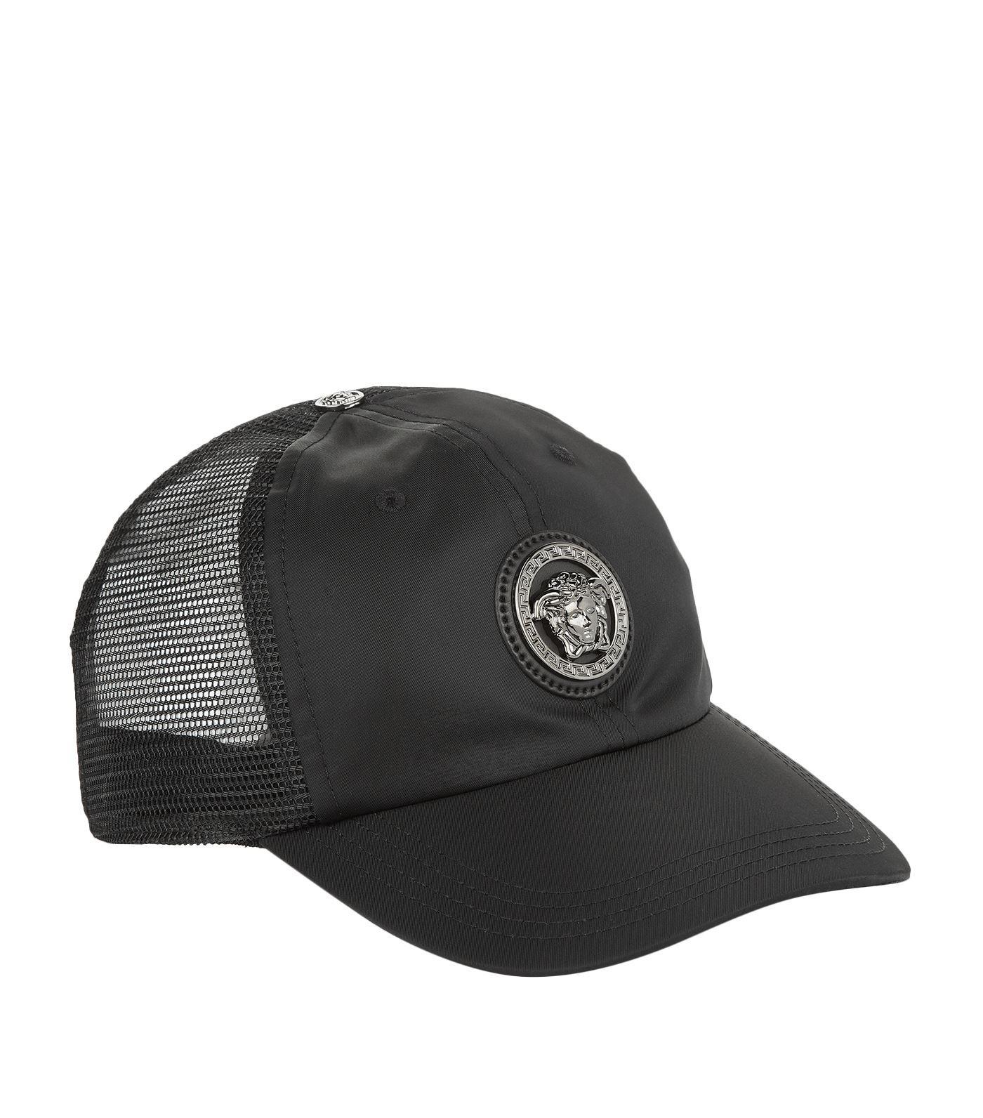 071d7d8f Versace Medusa Logo Baseball Cap in Black for Men - Lyst