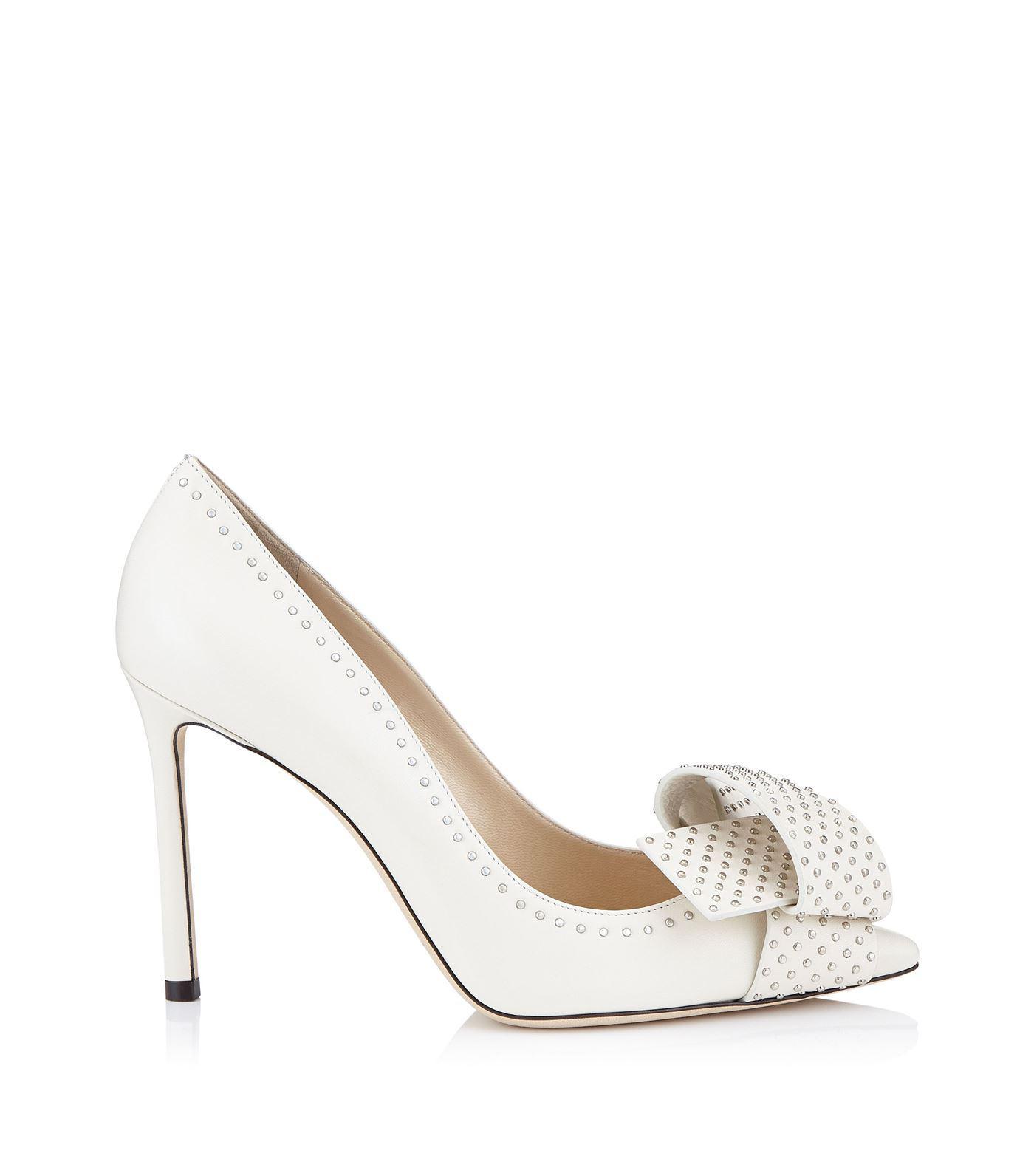 3e9daf2916c4 Jimmy Choo. Women s Metallic Tegan 100 Studded Bow Court Shoes