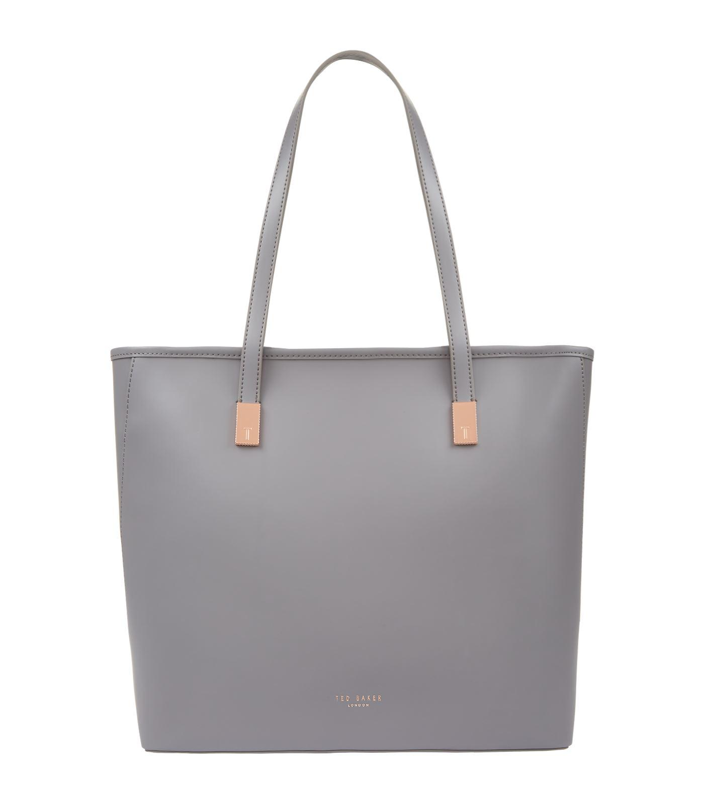 1f3511414eeb34 Ted Baker Chelsey Leather Shopper Bag in Gray - Lyst