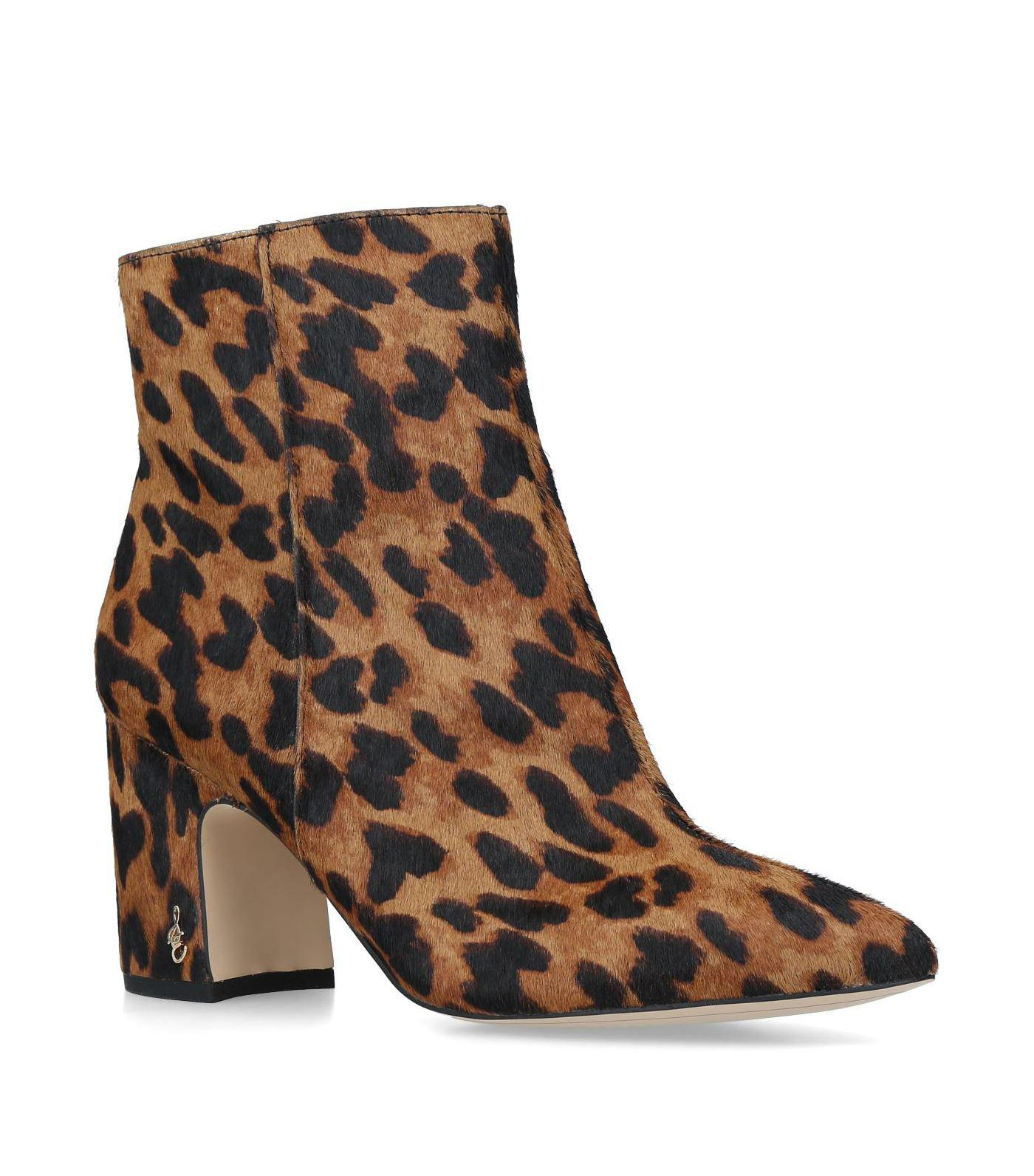 43fbe07c531f39 Sam Edelman. Women s Brown Leopard Print Hilty Ankle Boots.  255 From  Harrods ...
