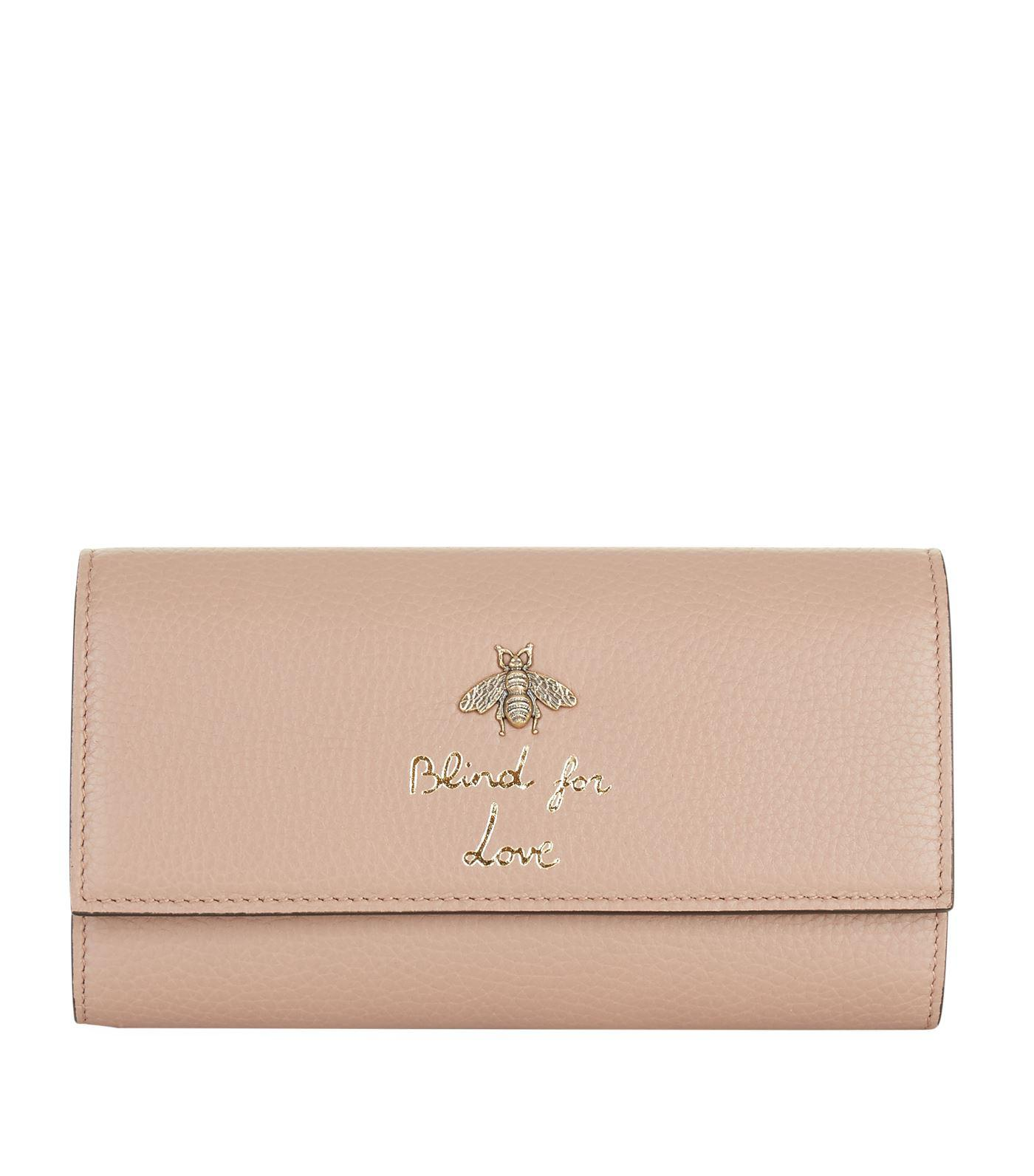 924c54466e0e86 Gucci Blind For Love Bee Wallet in White - Lyst