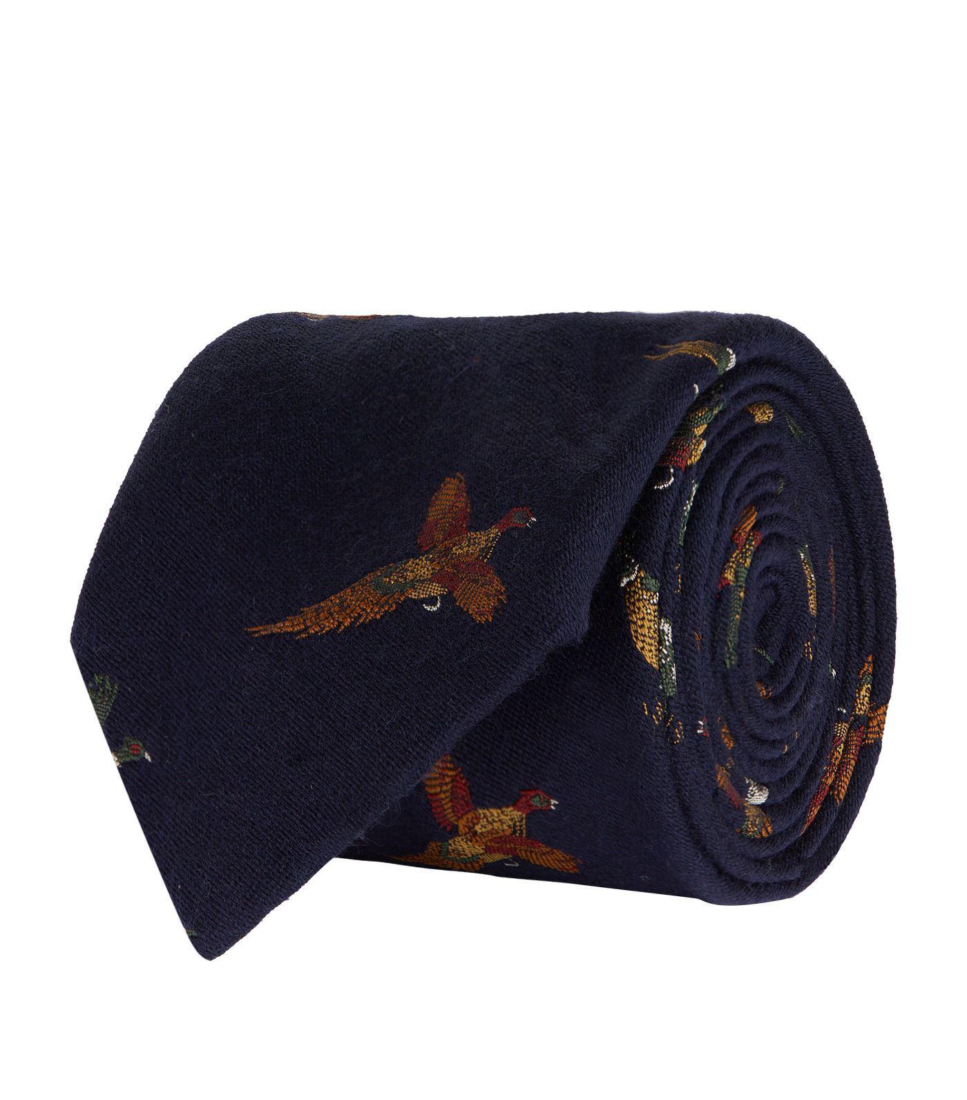 4d30376acb Polo Ralph Lauren Game Bird Tie in Blue for Men - Lyst