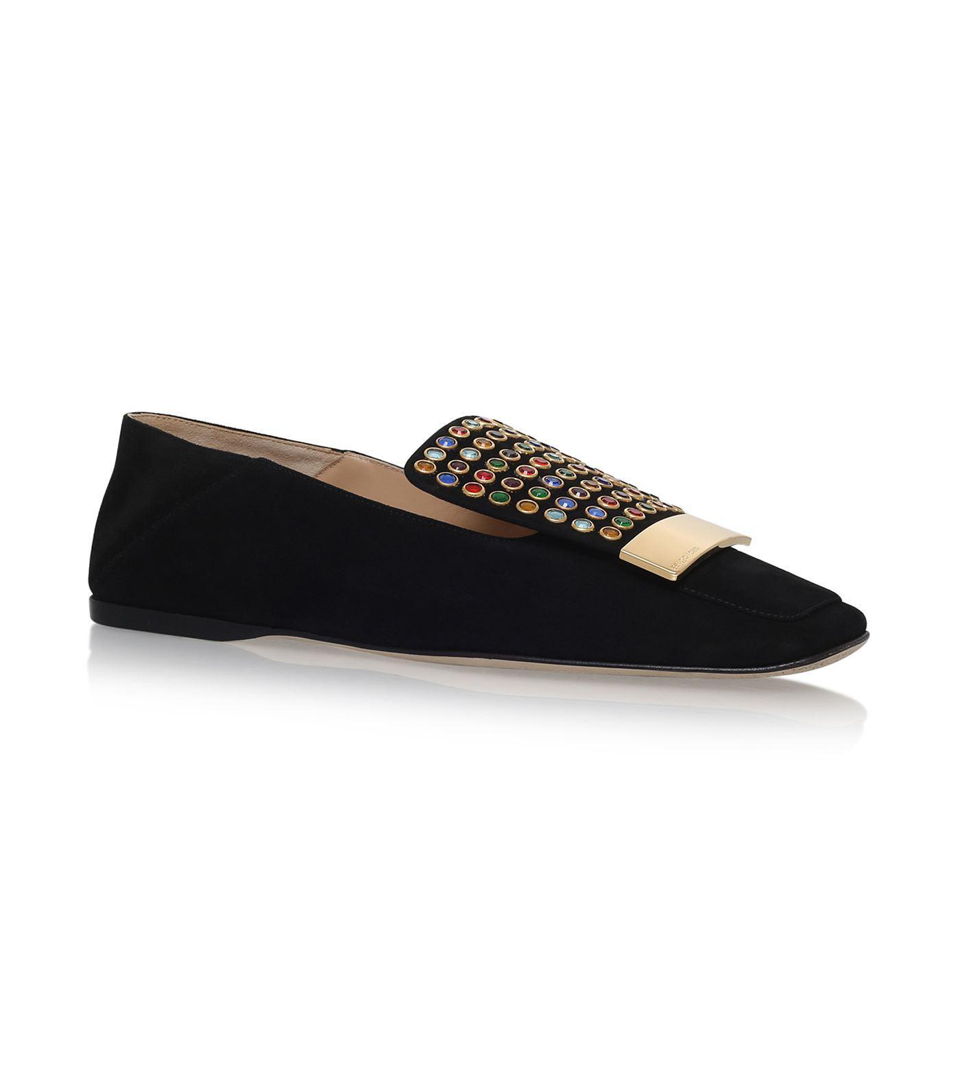 crystal jewelled loafers - Black Sergio Rossi PRIAI7D1