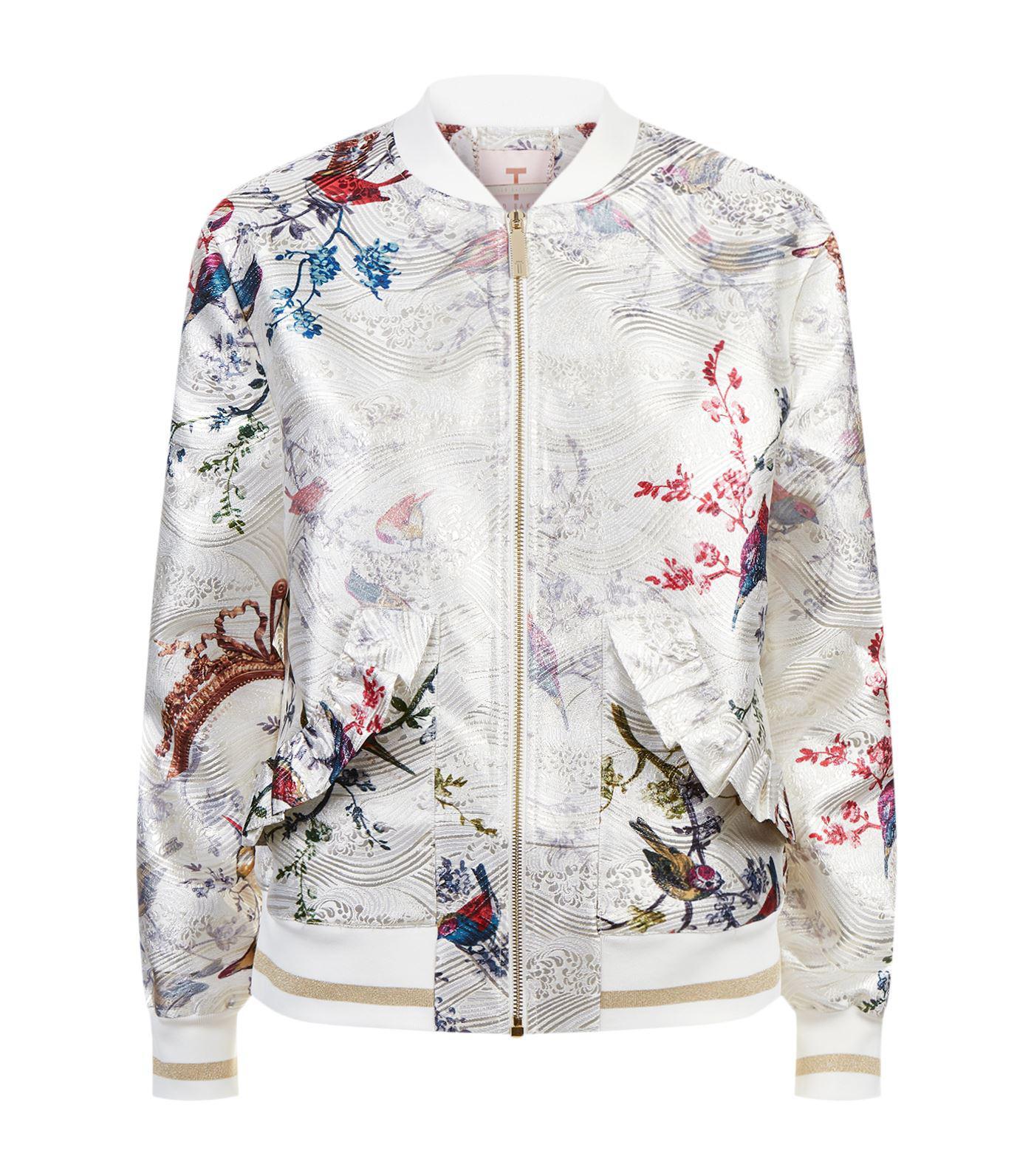bf1cbb9f2 Lyst - Ted Baker Tanzi Floral Bomber Jacket