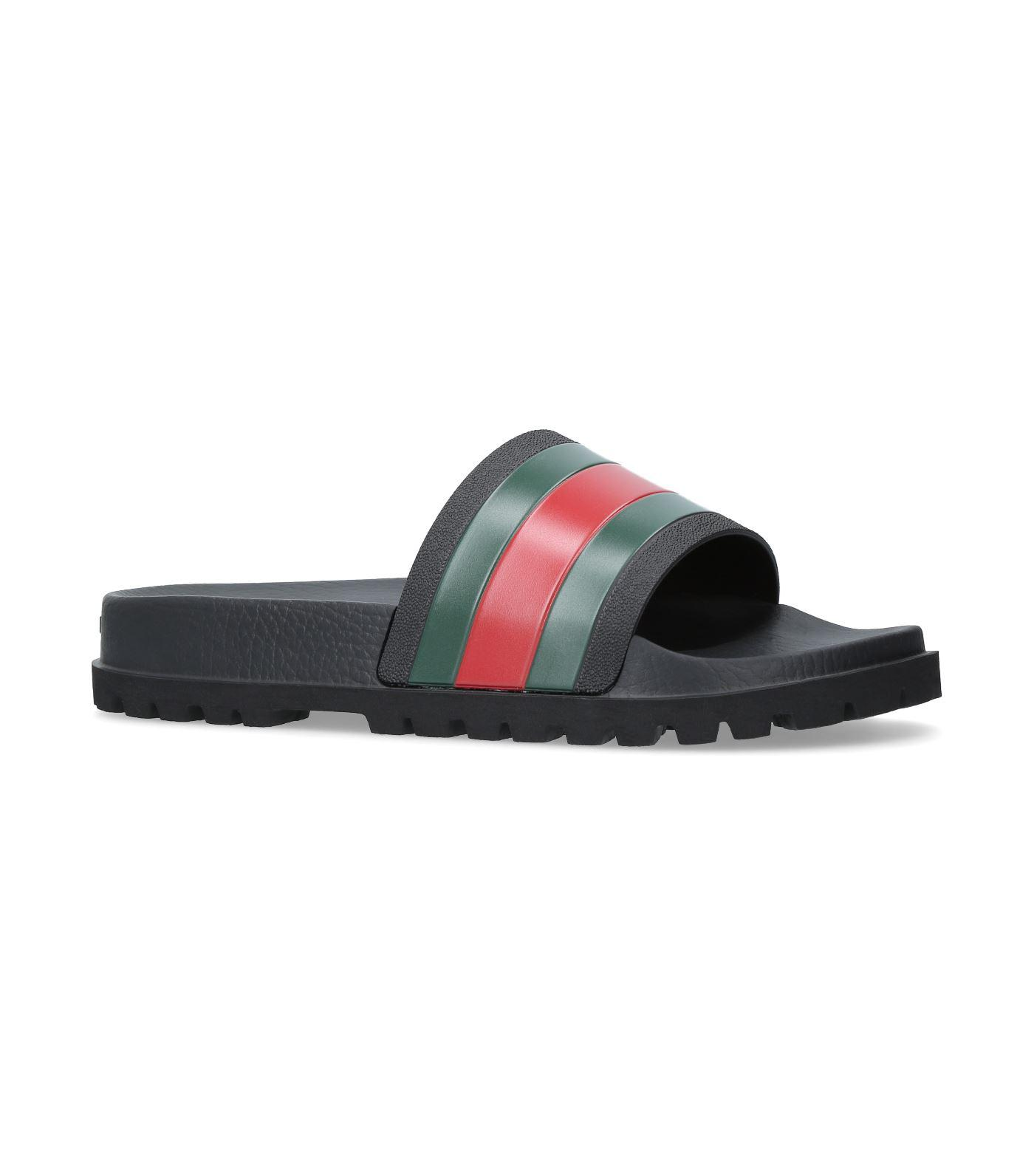 fde1bfa1192e7 Lyst - Gucci Pursuit 72 Rubber Slides in Black for Men - Save 32%