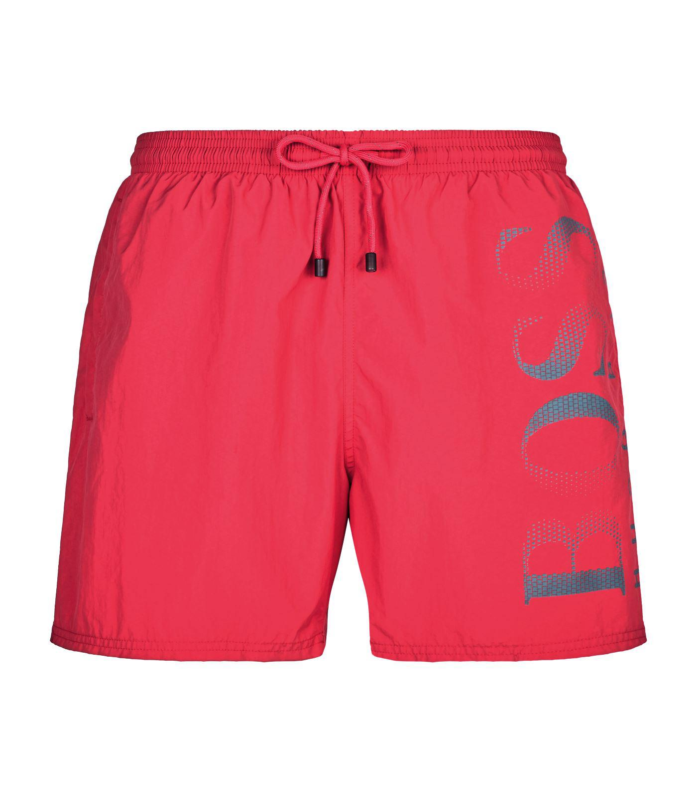 032a896a2 Lyst - BOSS Logo Swim Shorts in Pink for Men - Save 23.07692307692308%