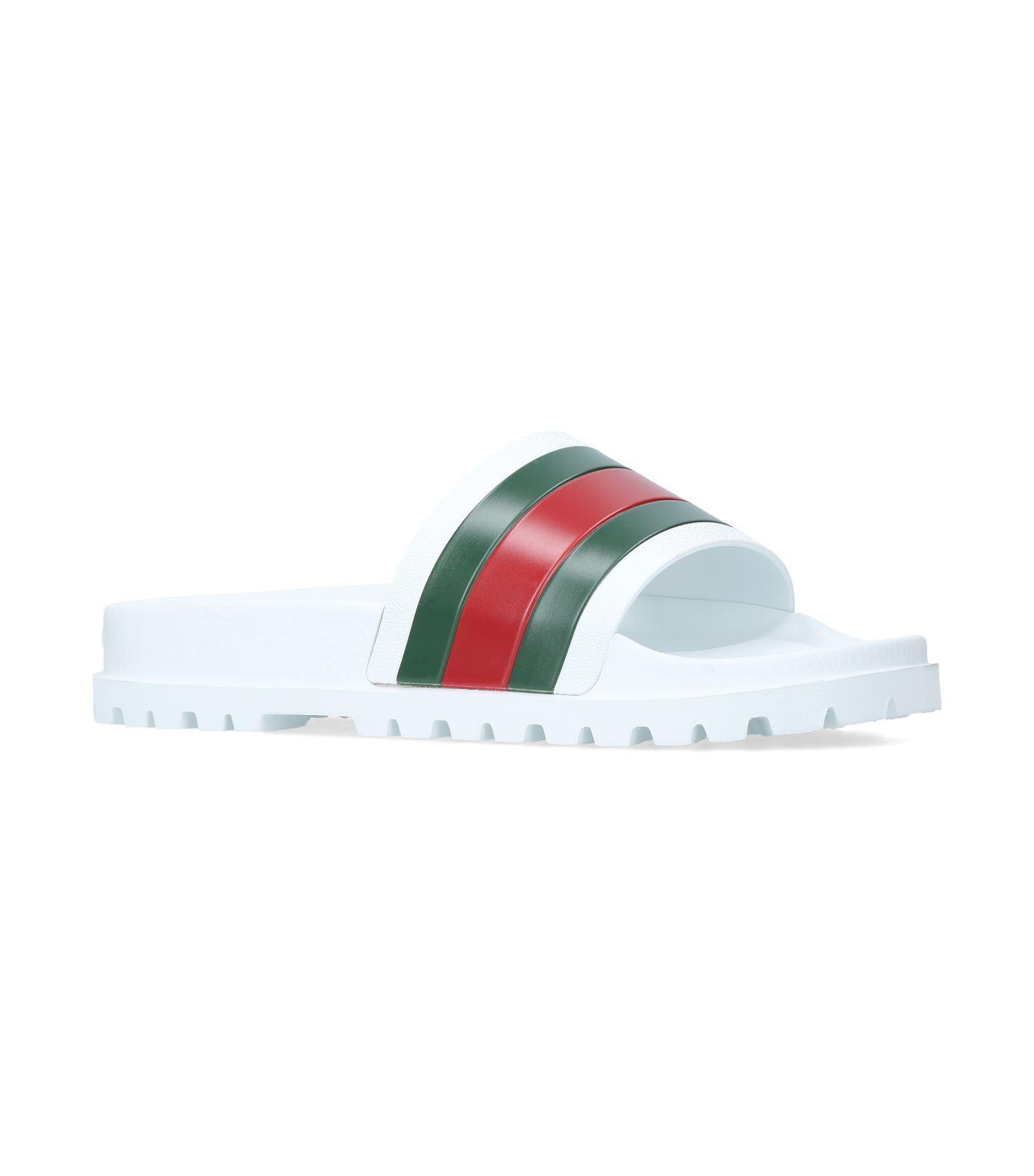 763797280f7 Gucci Pursuit Trek Slides in White for Men - Lyst