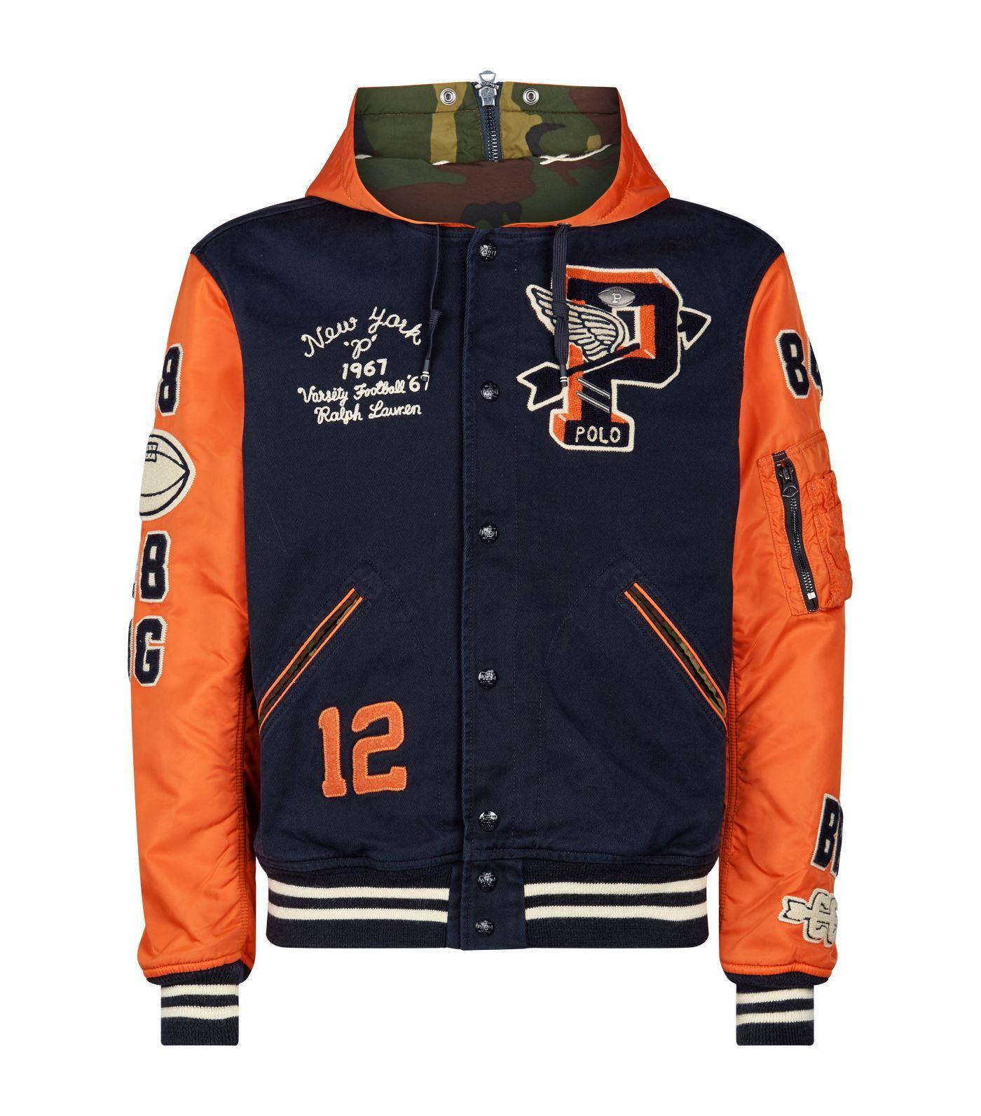 Ralph Lauren Wool Vintage Varsity Jacket in Navy (Blue