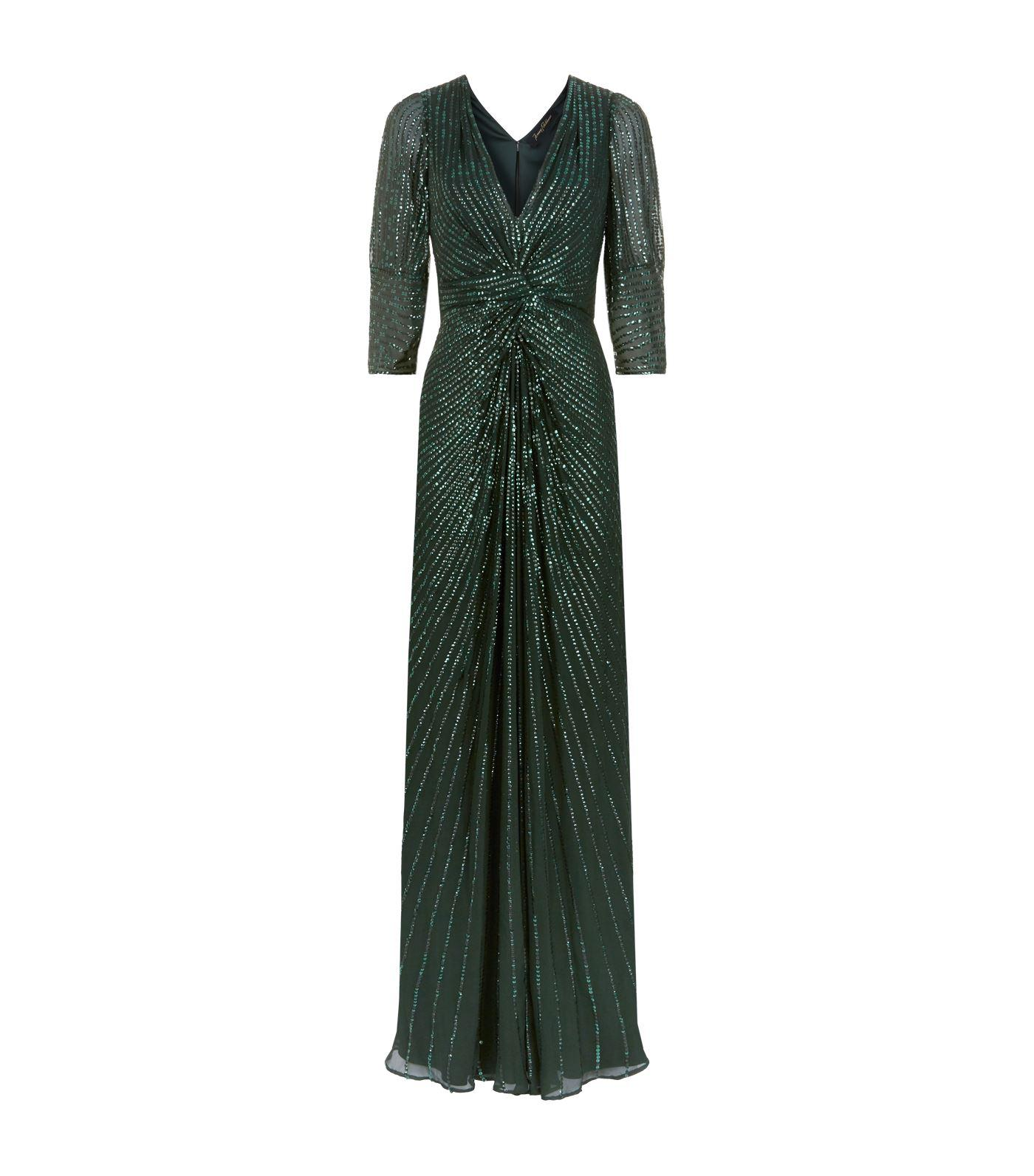 888cca6d Lyst - Jenny Packham Tana Sequin Embellished Gown in Green