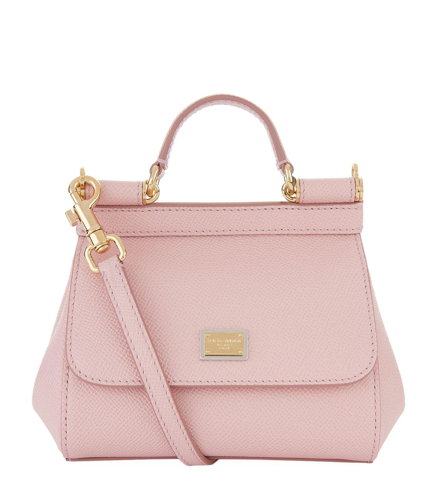 6e40fbbb1c Dolce   Gabbana Micro Sicily Top Handle Bag in Pink - Lyst