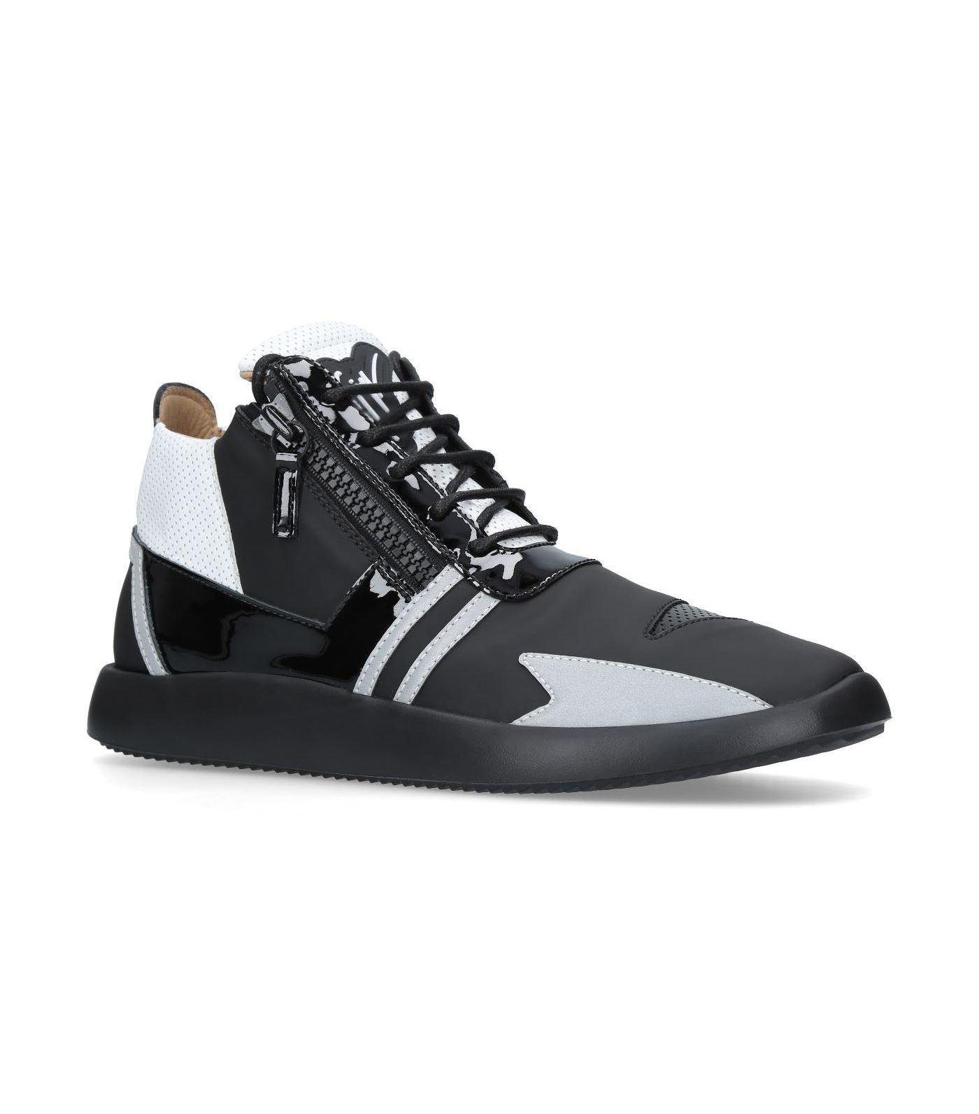 c05467d4335 Lyst - Giuseppe Zanotti Leather Layered Sneakers in Black for Men
