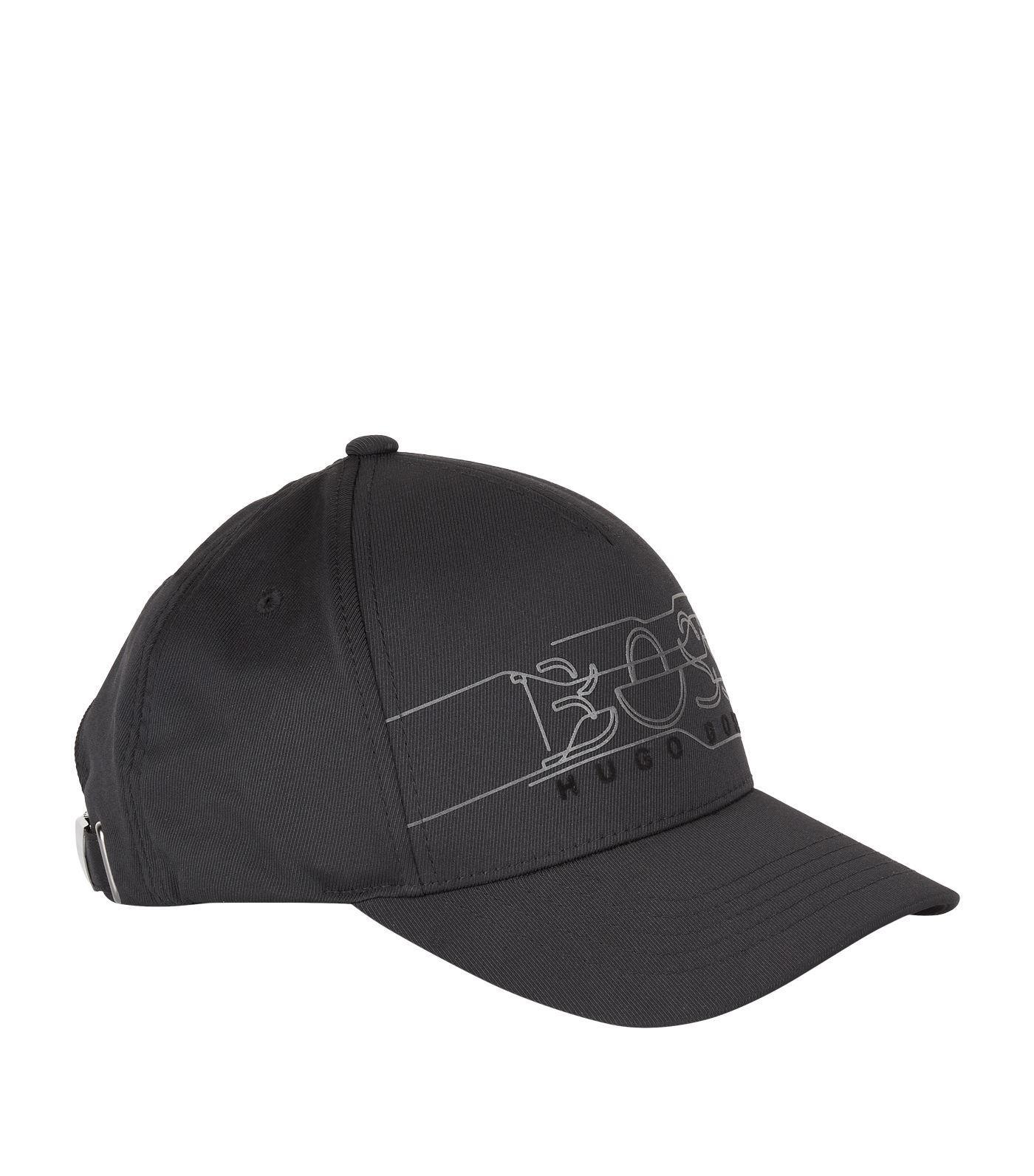 b88fdd70988 Lyst - BOSS Reflective Logo Cap in Black for Men