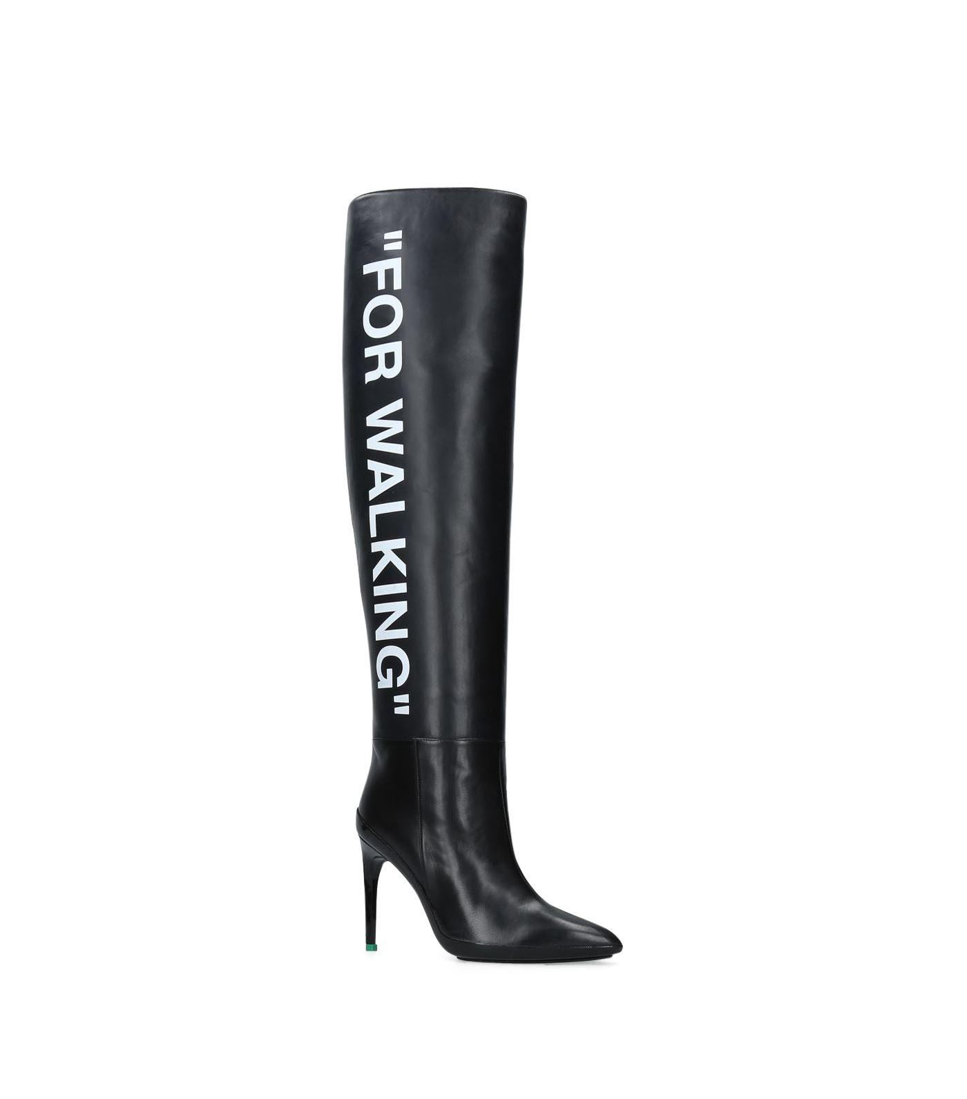 10e78140466 Lyst - Off-White c o Virgil Abloh For Walking Knee High Boots 120 in ...