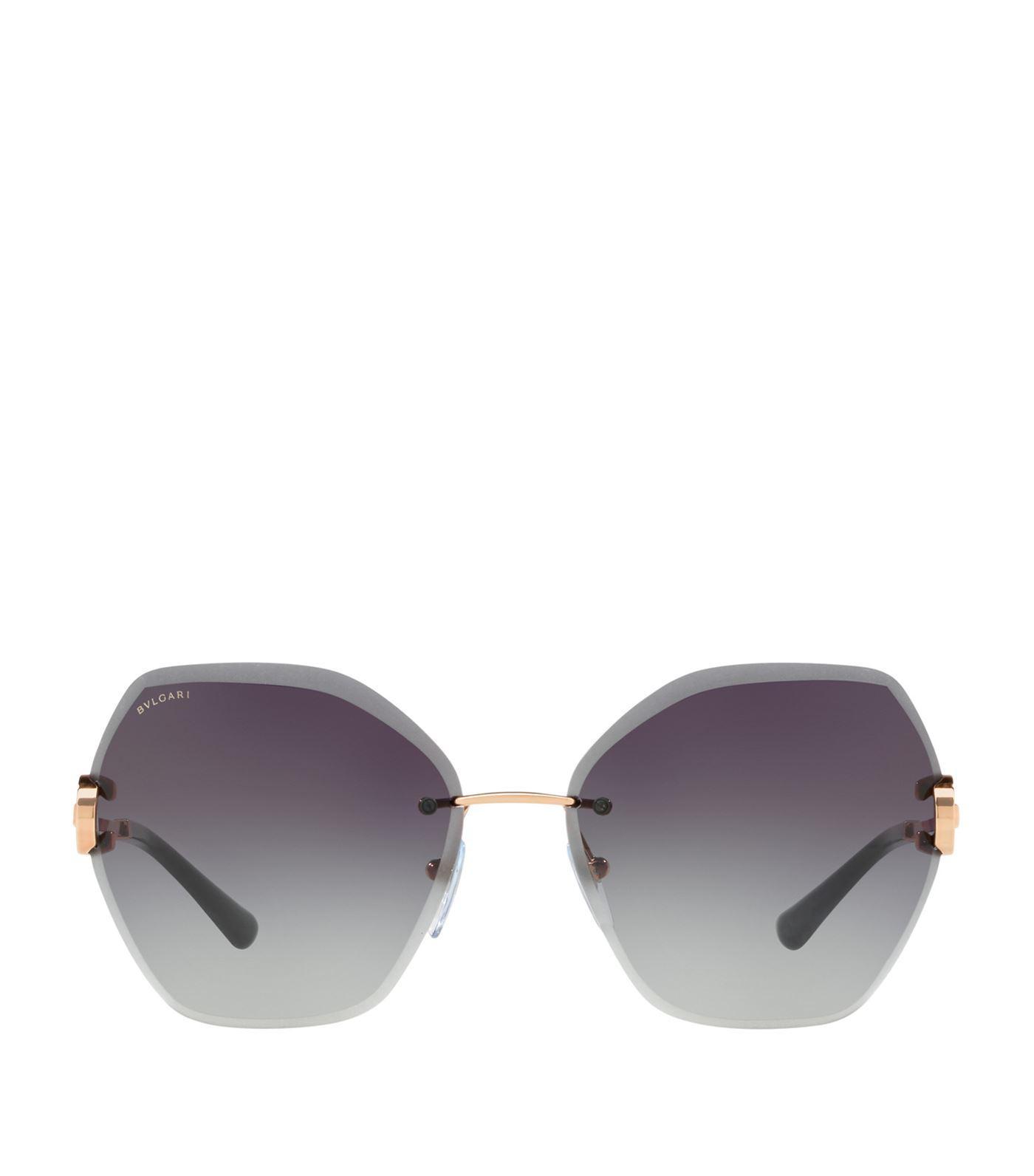 cb7baadbe5584 BVLGARI - Gray Serpenti Gradient Sunglasses - Lyst. View fullscreen