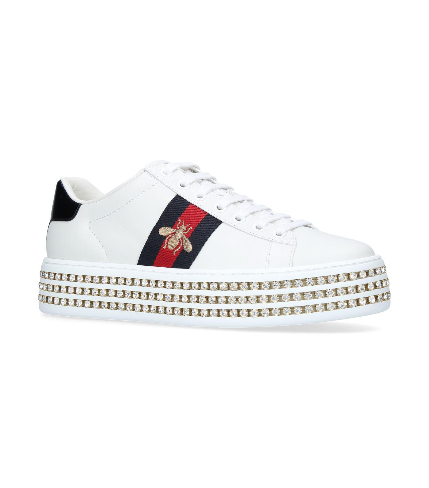 915c73fb59b8 Lyst - Gucci Ace Platform Sneakers in White - Save 20%