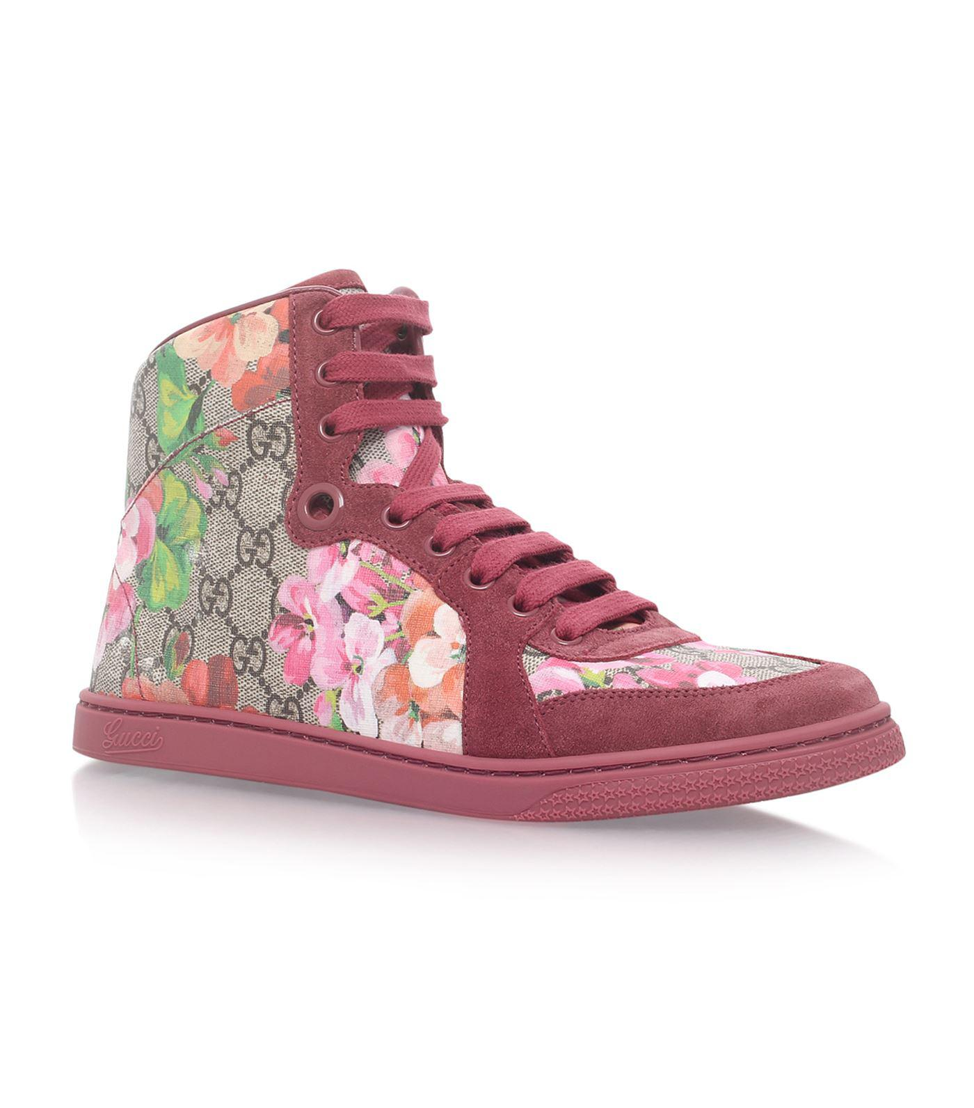 5c97cd6ec Lyst - Gucci Coda High Top Sneakers in Pink