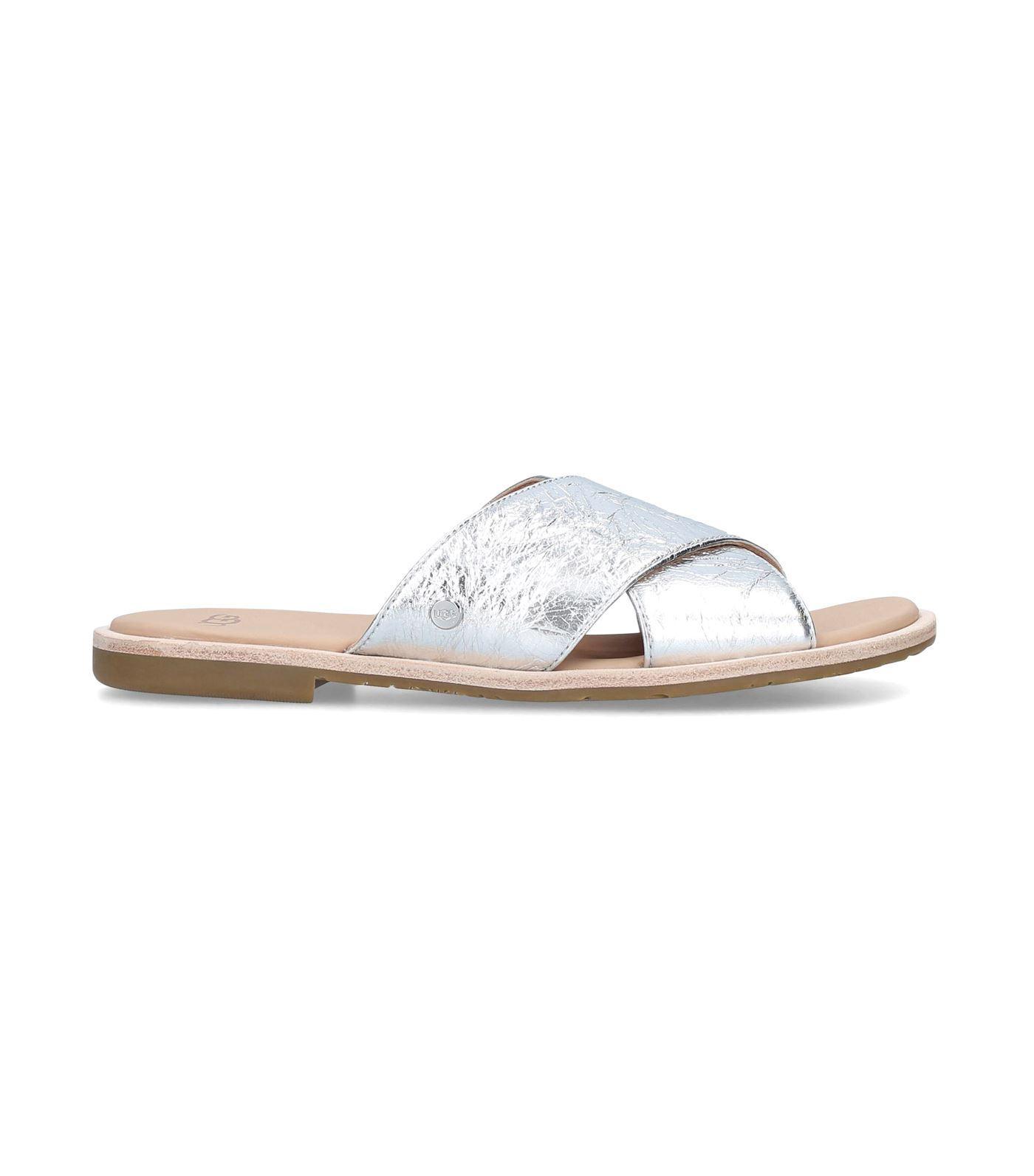 dabc92b4811 Lyst - UGG Joni Metallic Sandals in Metallic - Save 13%