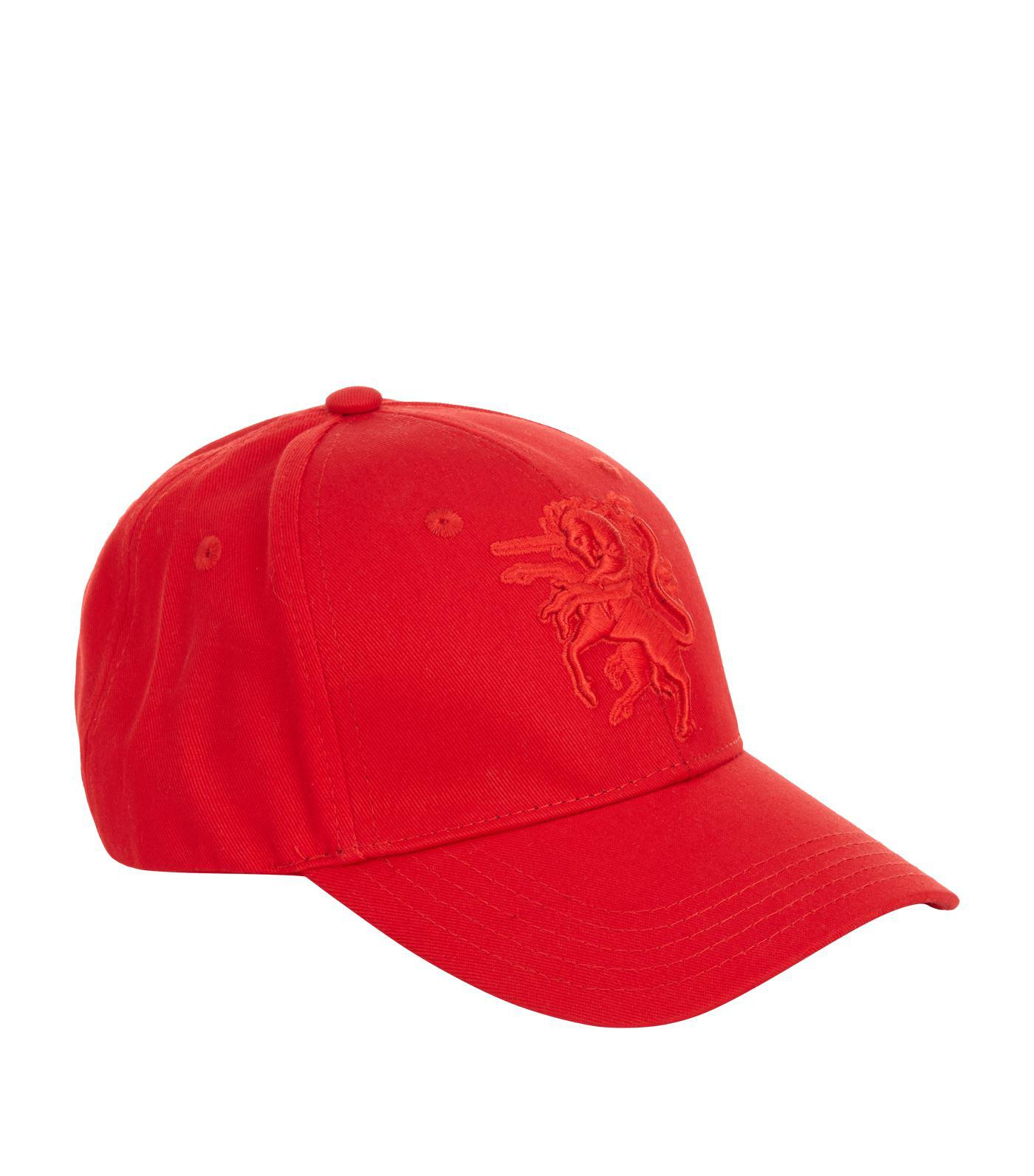 Philip Treacy Logo Embellished Baseball Cap in Red for Men - Lyst af55964fb845