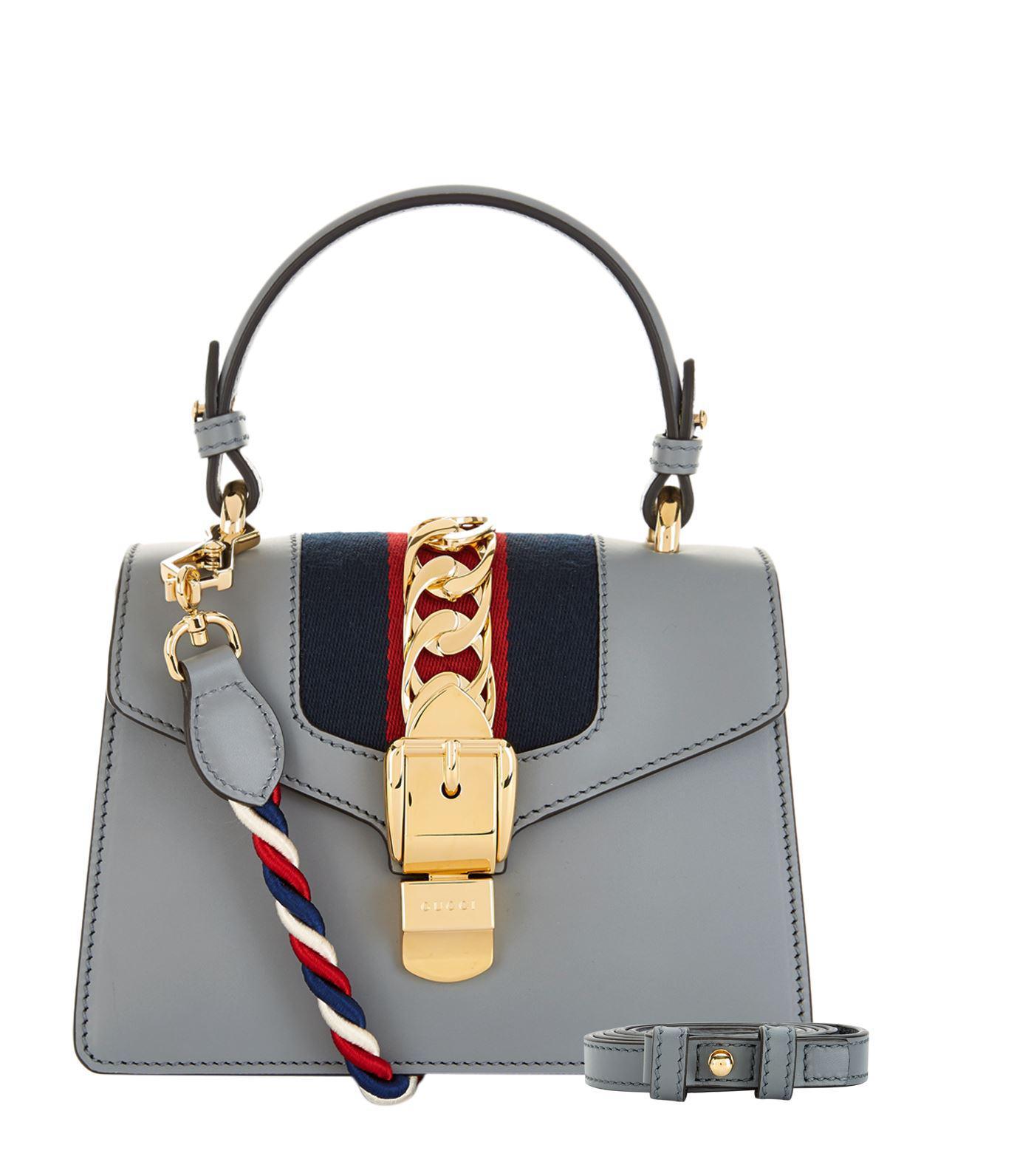 16aed55ea4c3c3 Gucci Mini Sylvie Shoulder Bag in Gray - Lyst