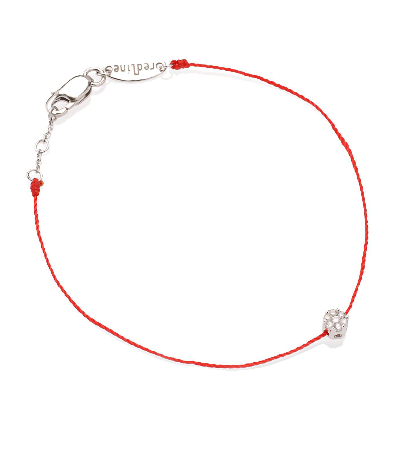 rose red shop bracelet diamond gold redline thread jewellery