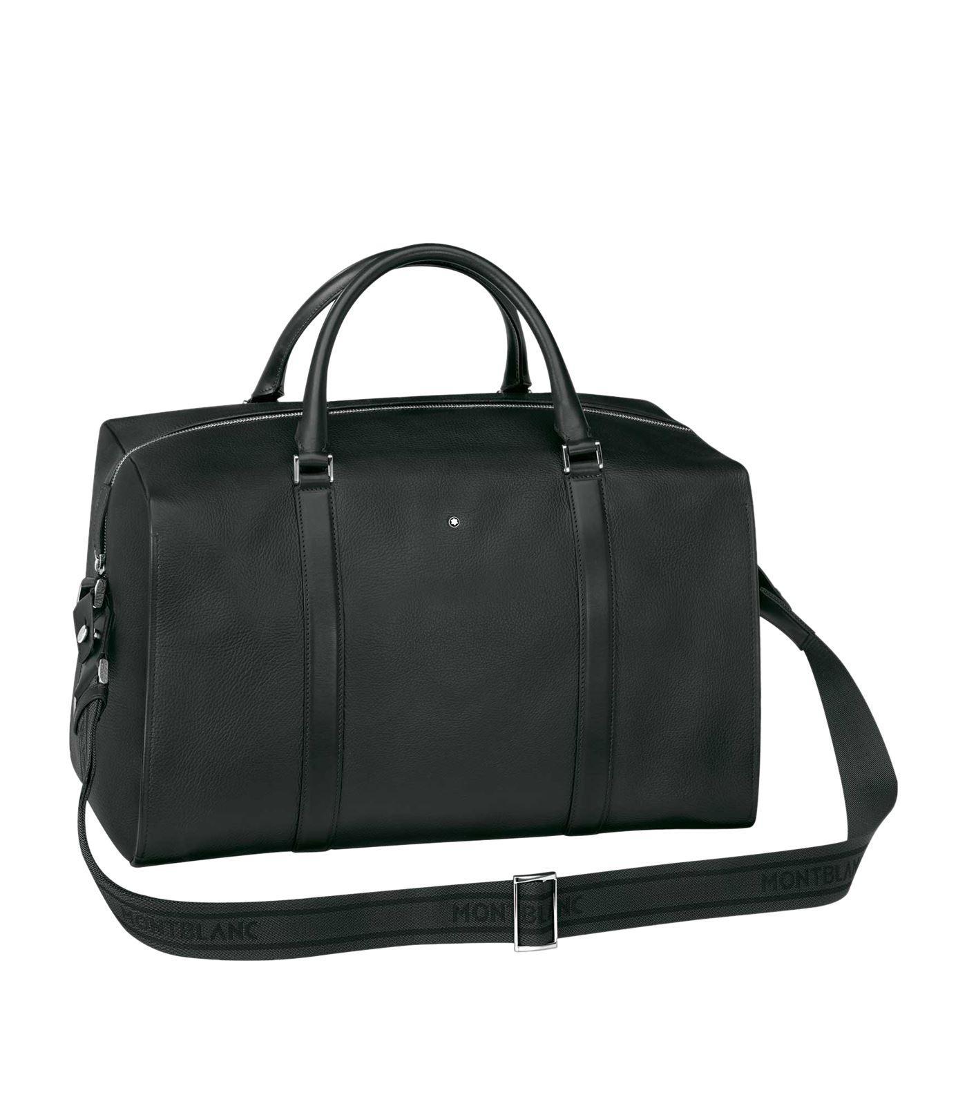 4c03d5de2615 Lyst - Montblanc Meisterstück Soft Grain Duffle Small Black in Black ...