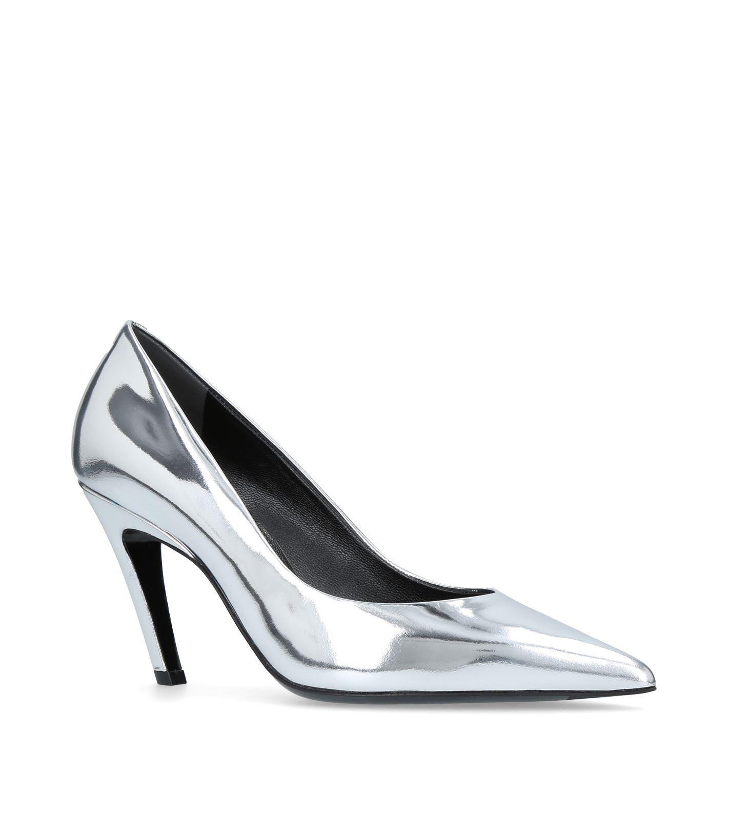 1175c9e5515 Lyst - Balenciaga Slash Heel Pumps 80 in Metallic