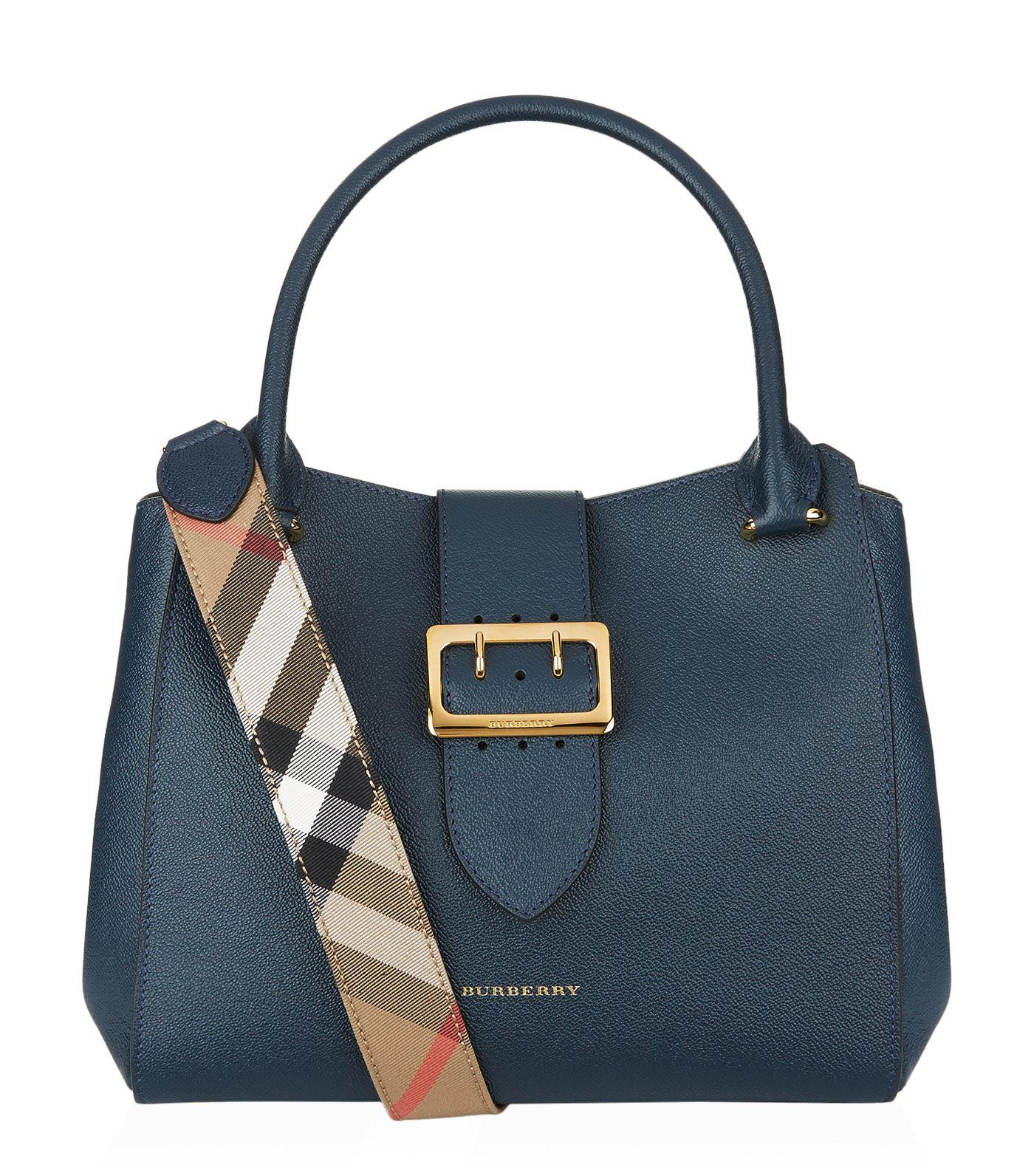 Burberry Buckle Tote Bag in Blue - Save 4% | Lyst