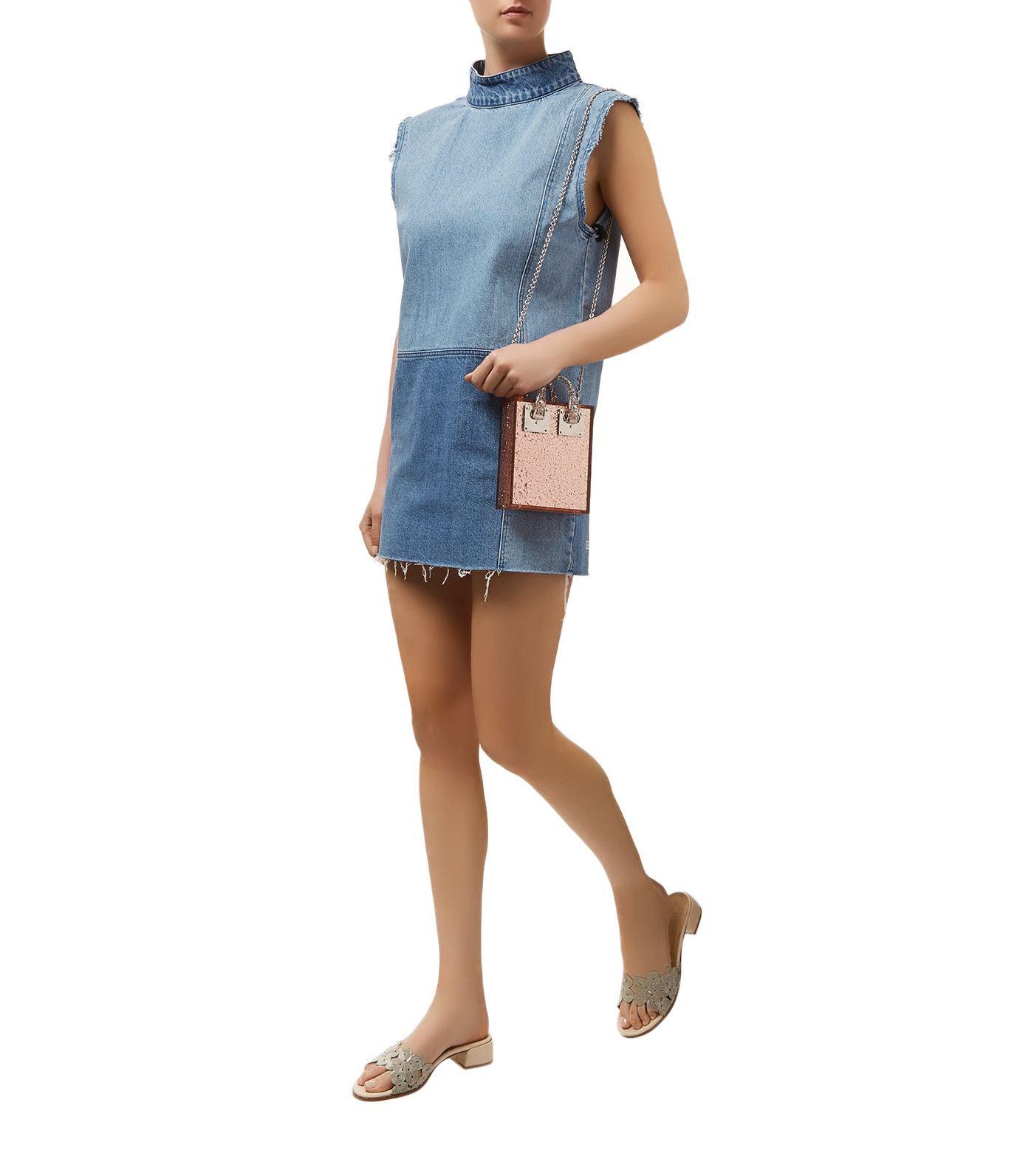c140720b44 Ksubi Denim Patch Shift Dress in Blue - Lyst