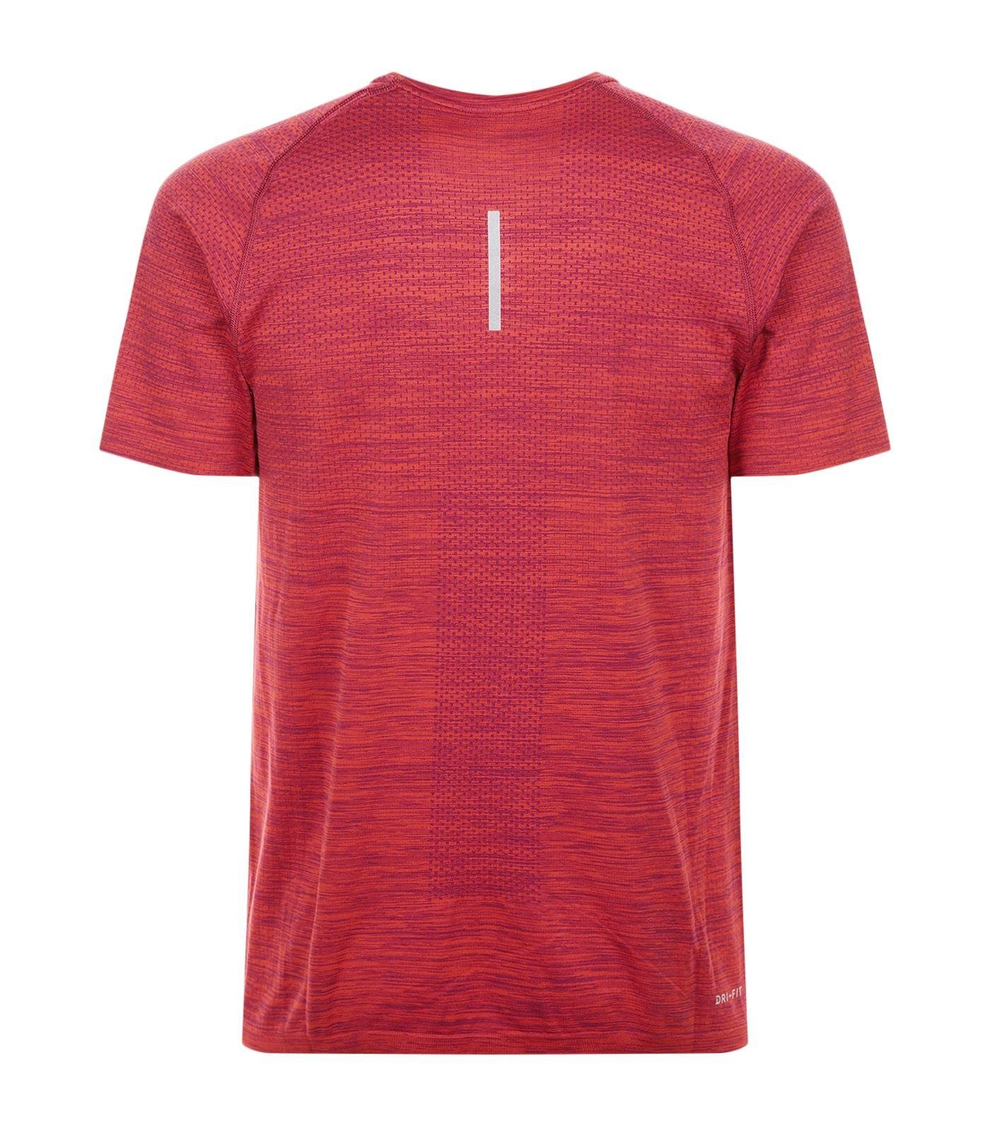 Lyst Nike Knitted Dri Fit T Shirt In Purple For Men