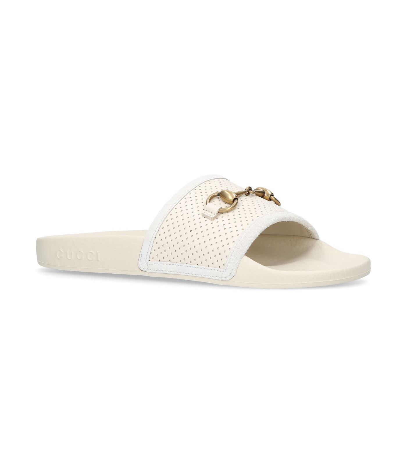 54d9e308944 Gucci - White Pursuit Slides - Lyst. View fullscreen